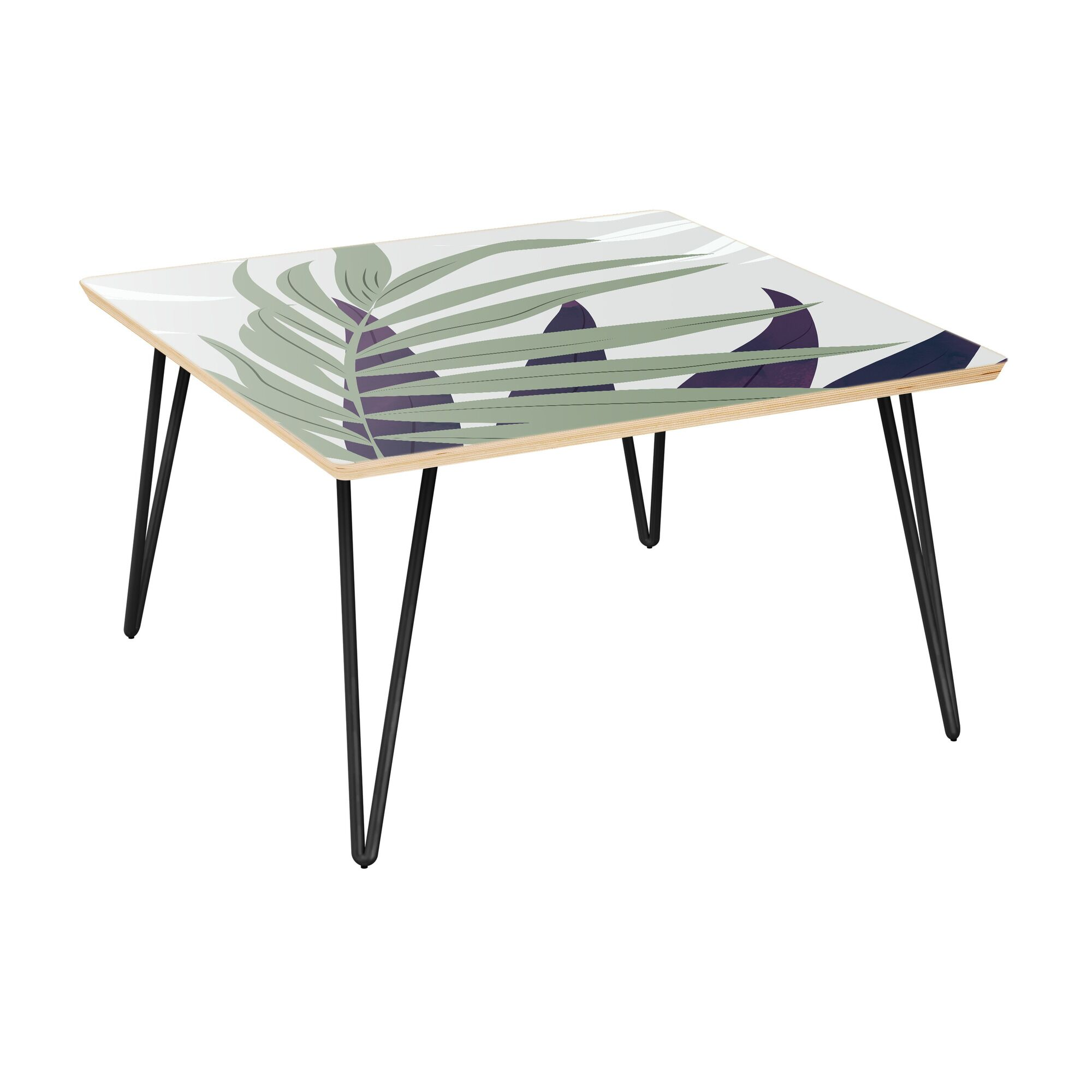 Schiff Coffee Table Table Top Color: Natural, Table Base Color: Black