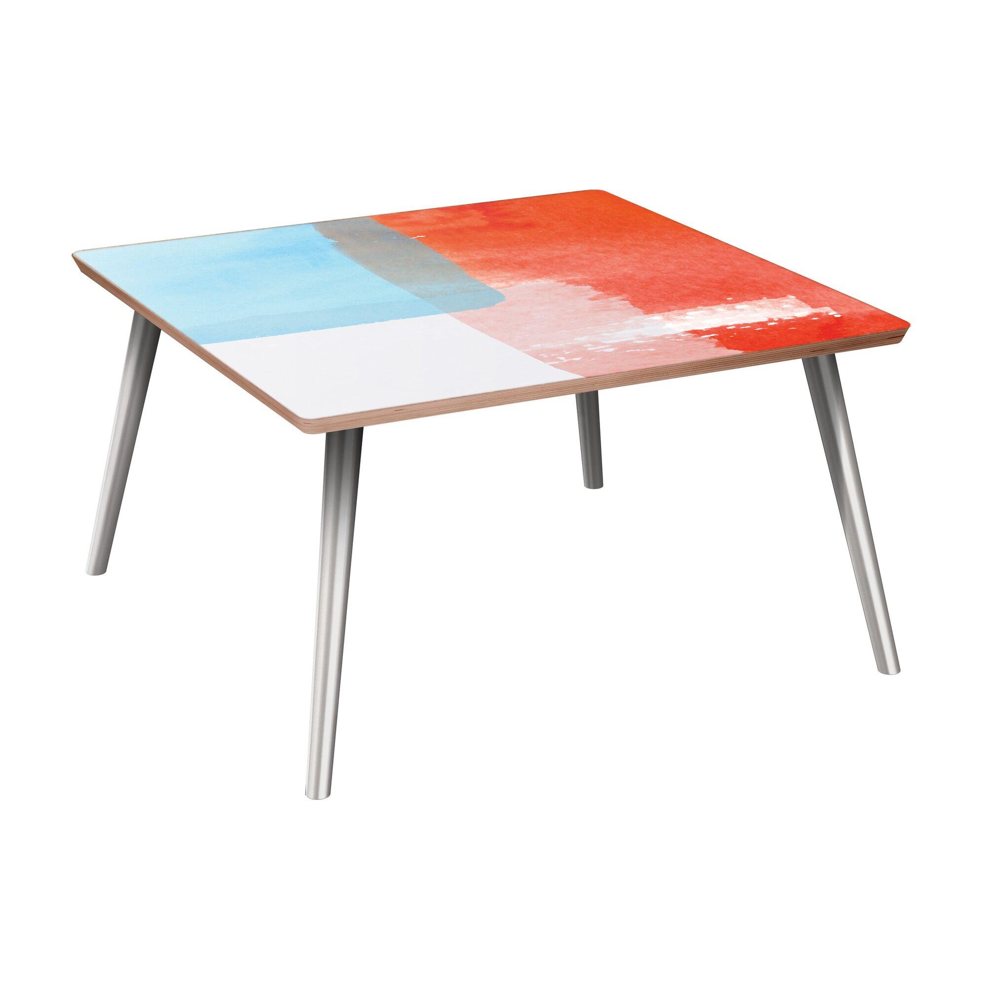Estill Coffee Table Table Base Color: Chrome, Table Top Color: Walnut