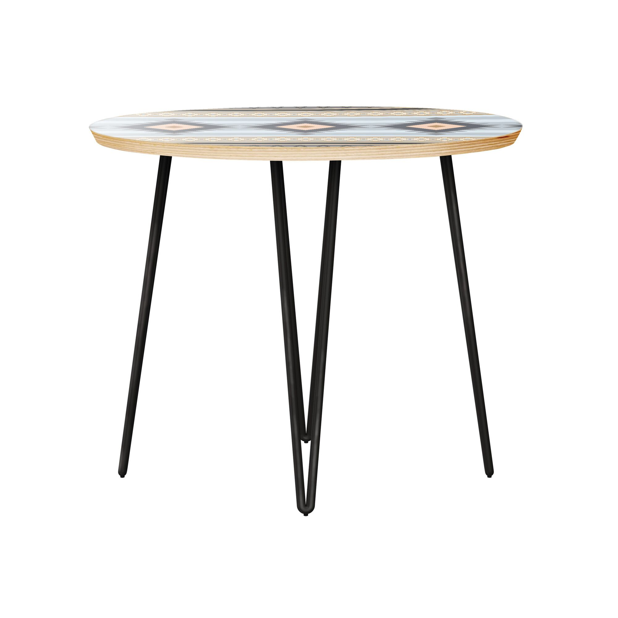 Hunsicker End Table Table Top Color: Natural, Table Base Color: Black