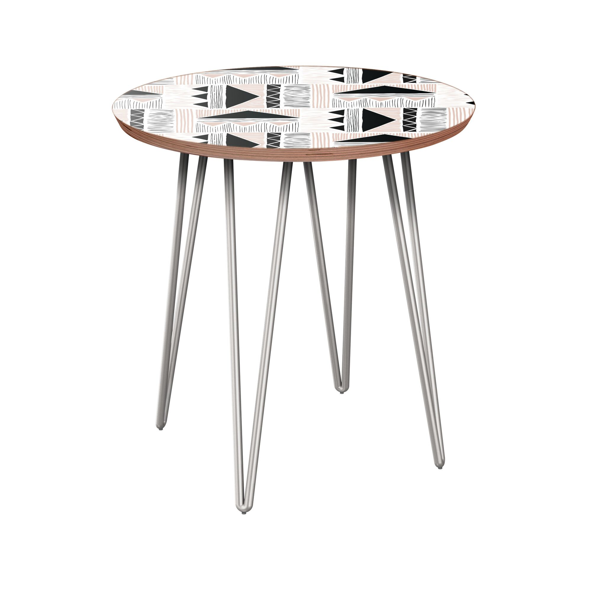 Horst End Table Table Base Color: Chrome, Table Top Color: Walnut