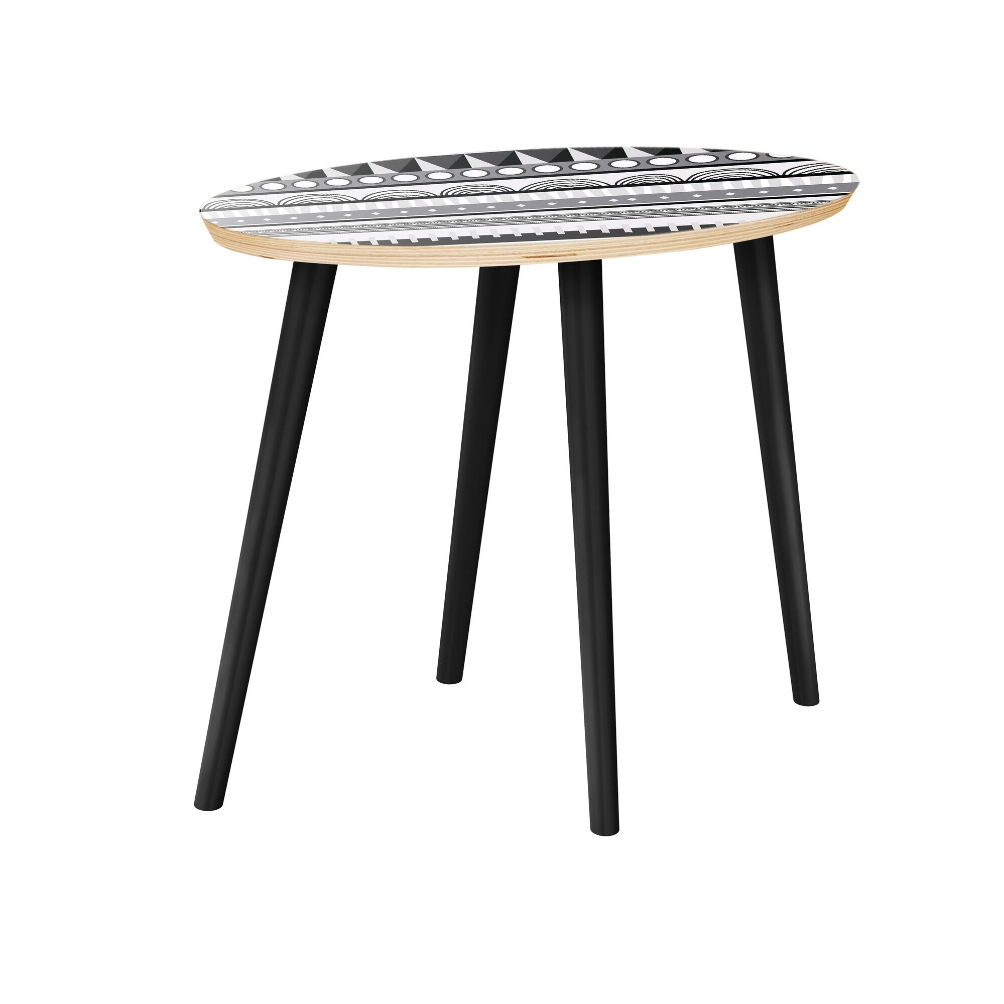 Hulme End Table Table Top Color: Natural, Table Base Color: Black