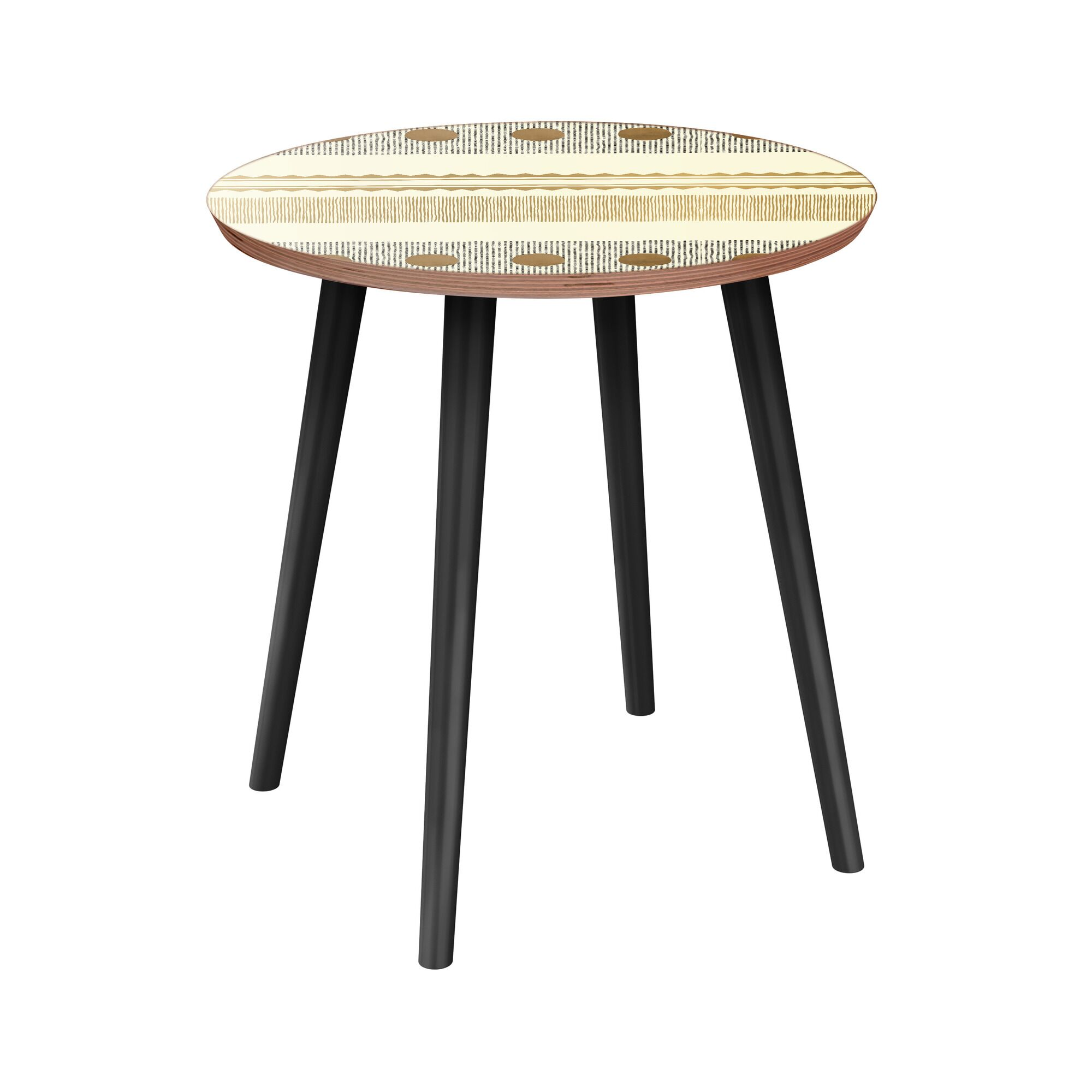 Honore End Table Table Base Color: Black, Table Top Color: Walnut
