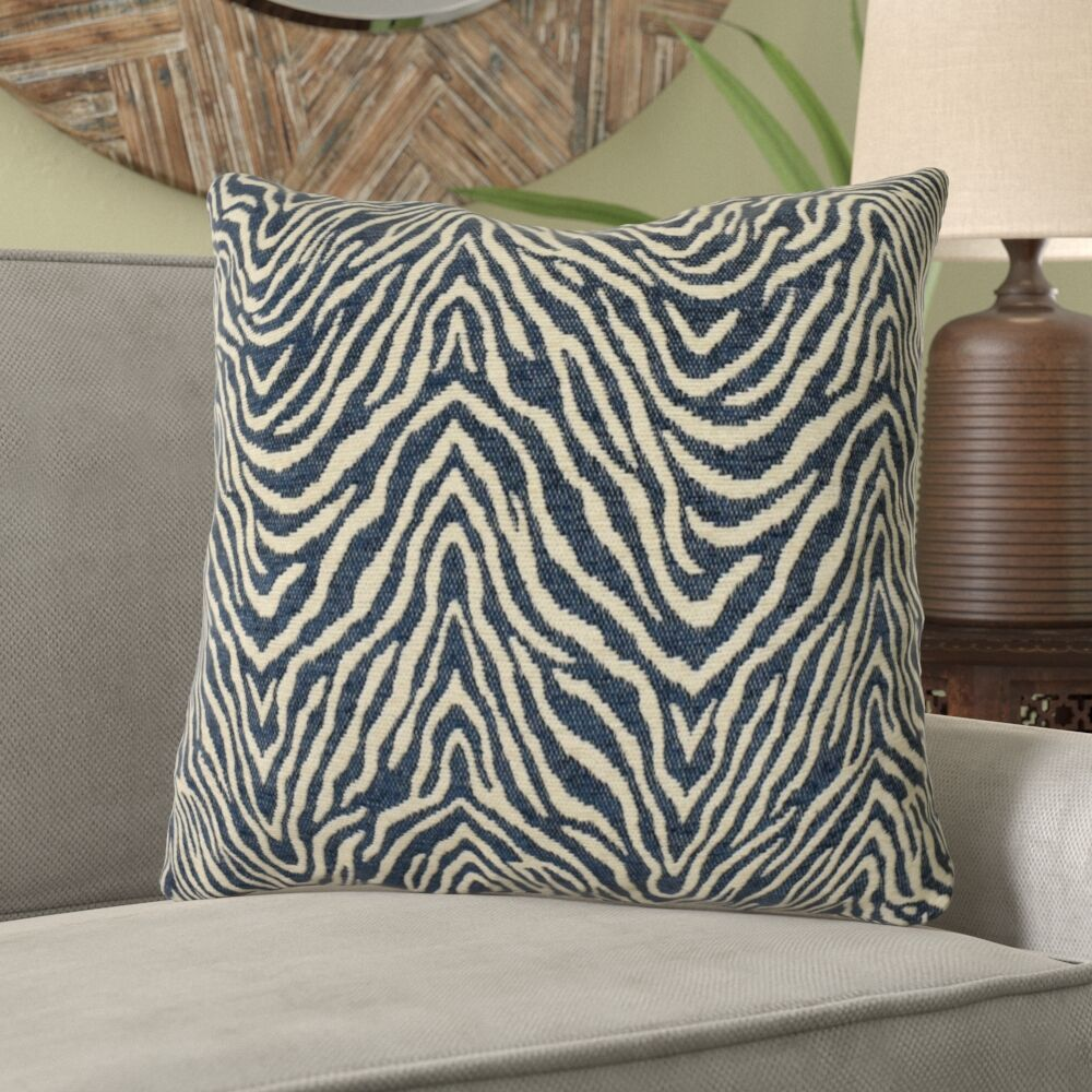 Montenegro Zebra Pattern Pillow Fill Material: Cover Only - No Insert, Size: 16
