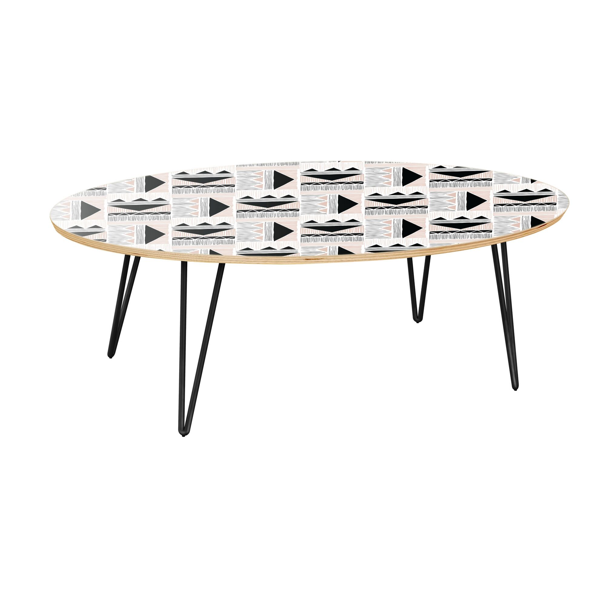 Hotaling Coffee Table Table Top Color: Natural, Table Base Color: Black