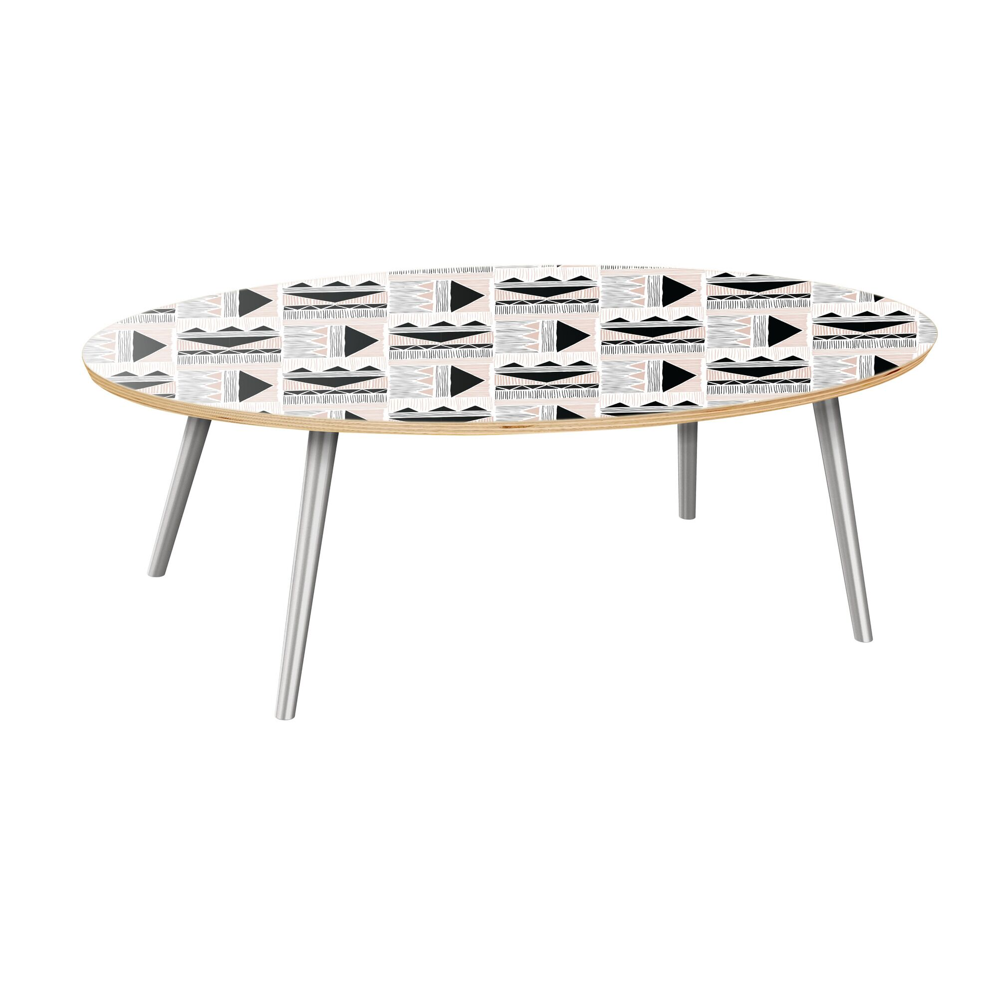 Hottinger Coffee Table Table Top Color: Natural, Table Base Color: Chrome