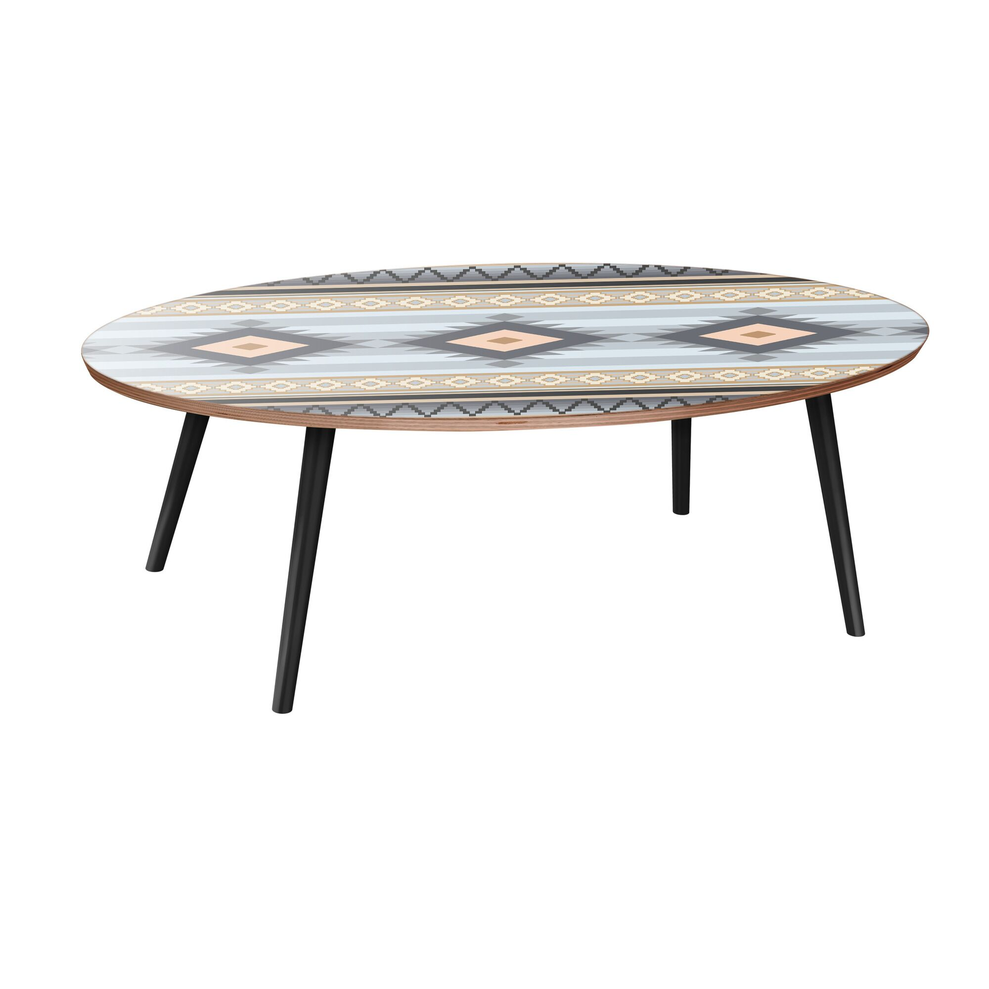Hubbs Coffee Table Table Base Color: Black, Table Top Color: Walnut