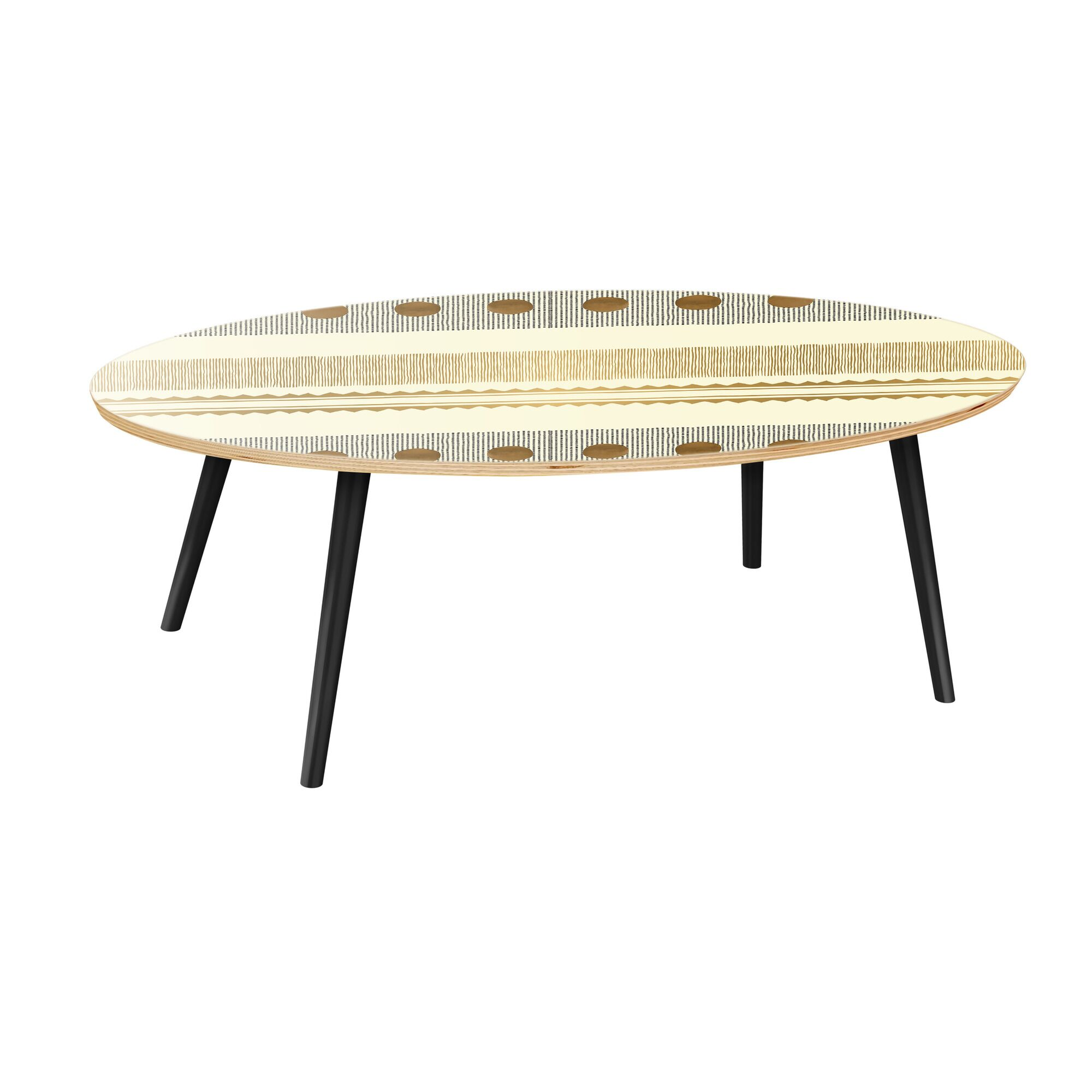 Howle Coffee Table Table Base Color: Black, Table Top Color: Natural