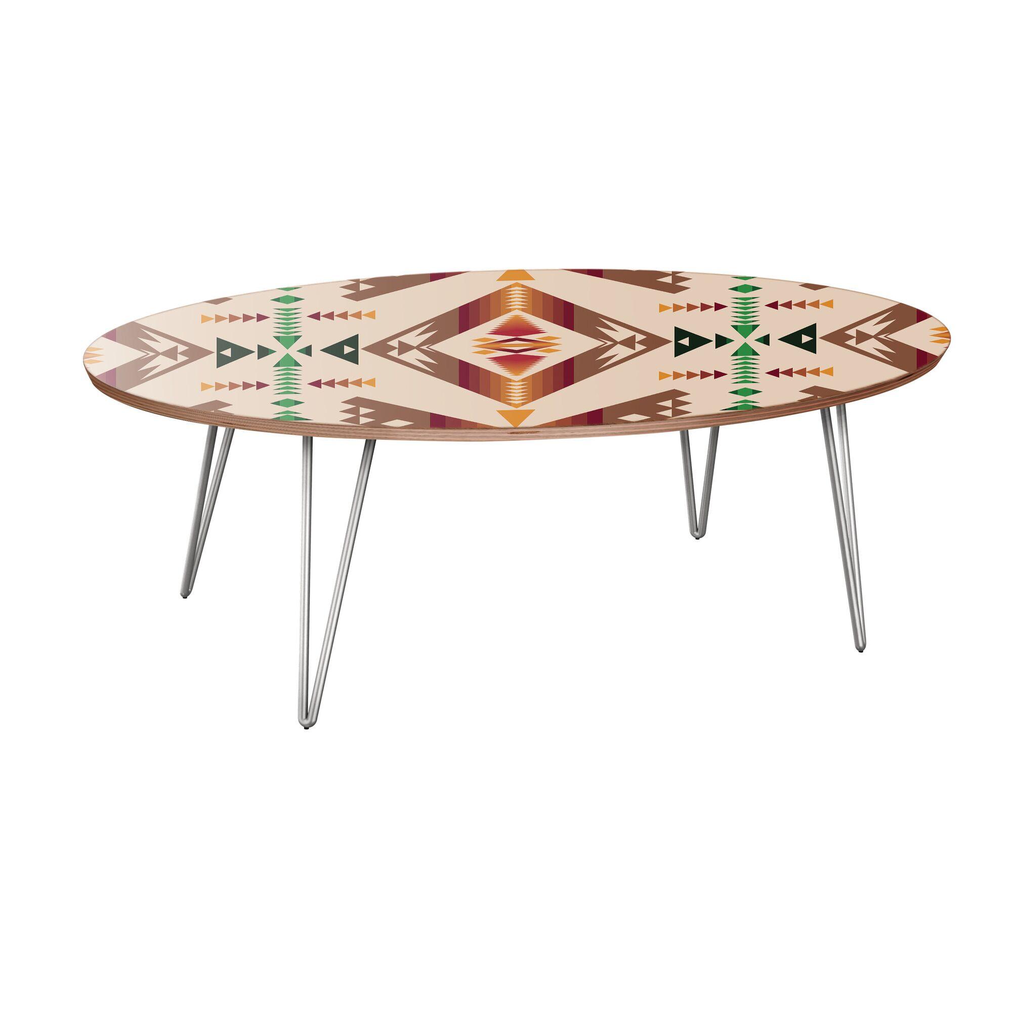 Howlett Coffee Table Table Base Color: Chrome, Table Top Color: Walnut