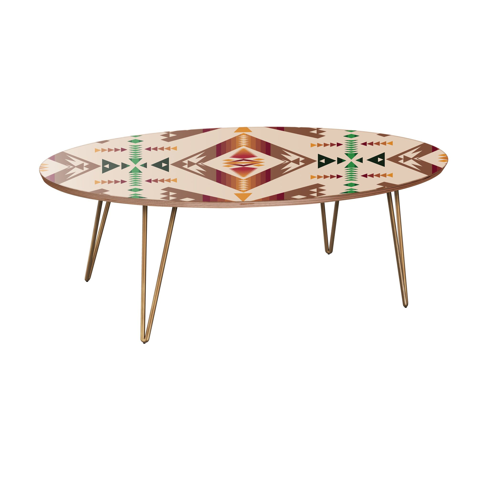 Howlett Coffee Table Table Base Color: Brass, Table Top Color: Walnut