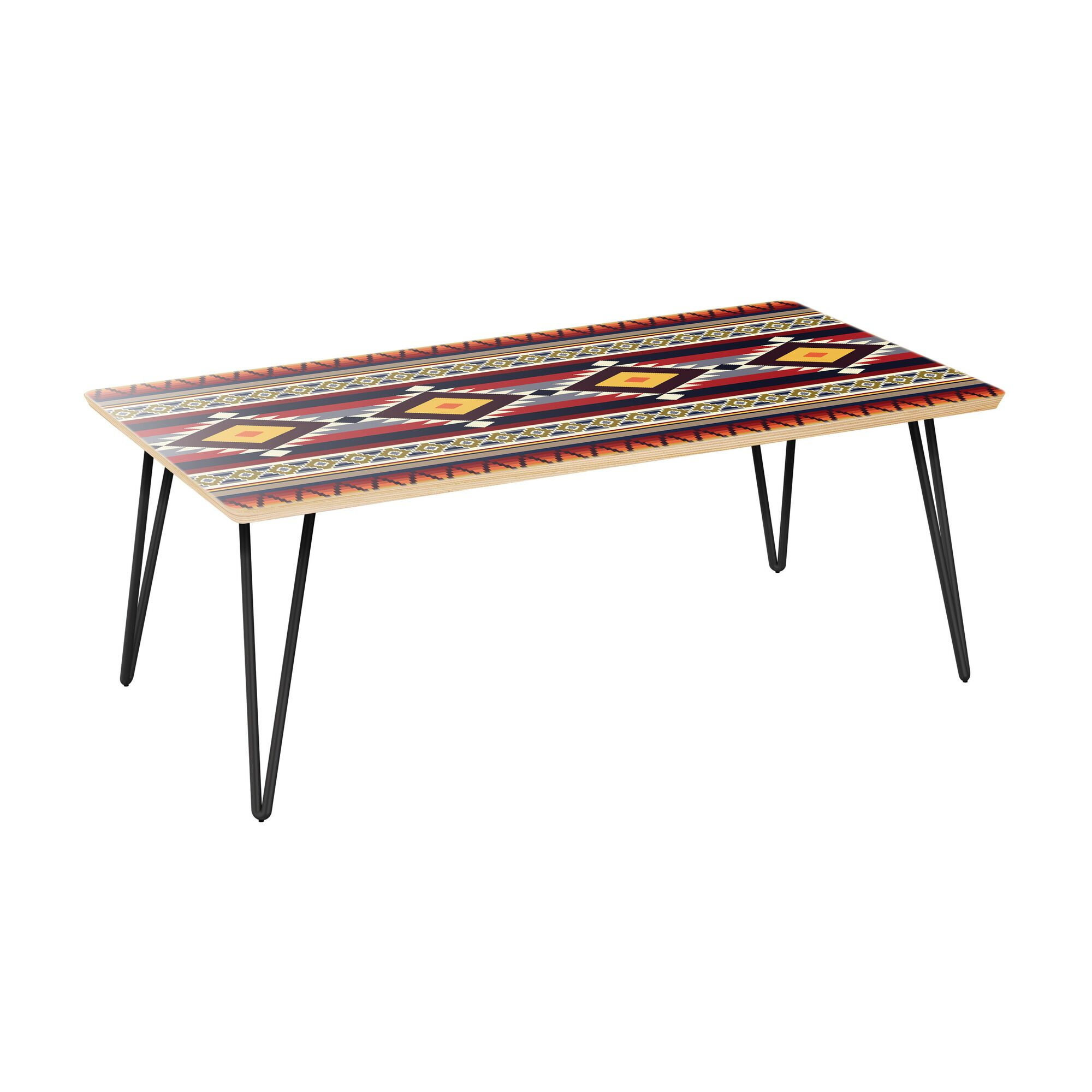 Kaydence Coffee Table Table Top Color: Natural, Table Base Color: Black