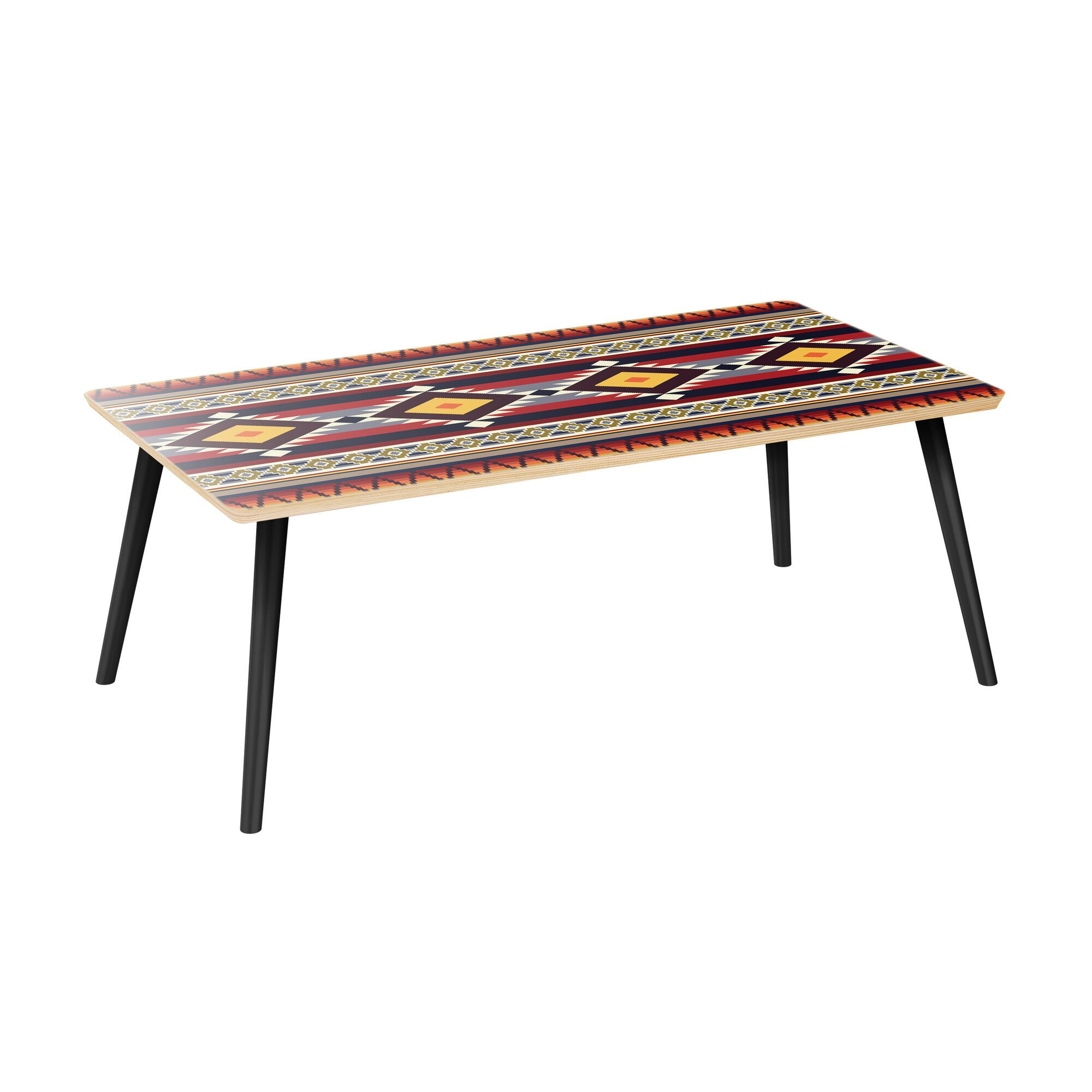 Kaytlynn Coffee Table Table Top Color: Natural, Table Base Color: Black