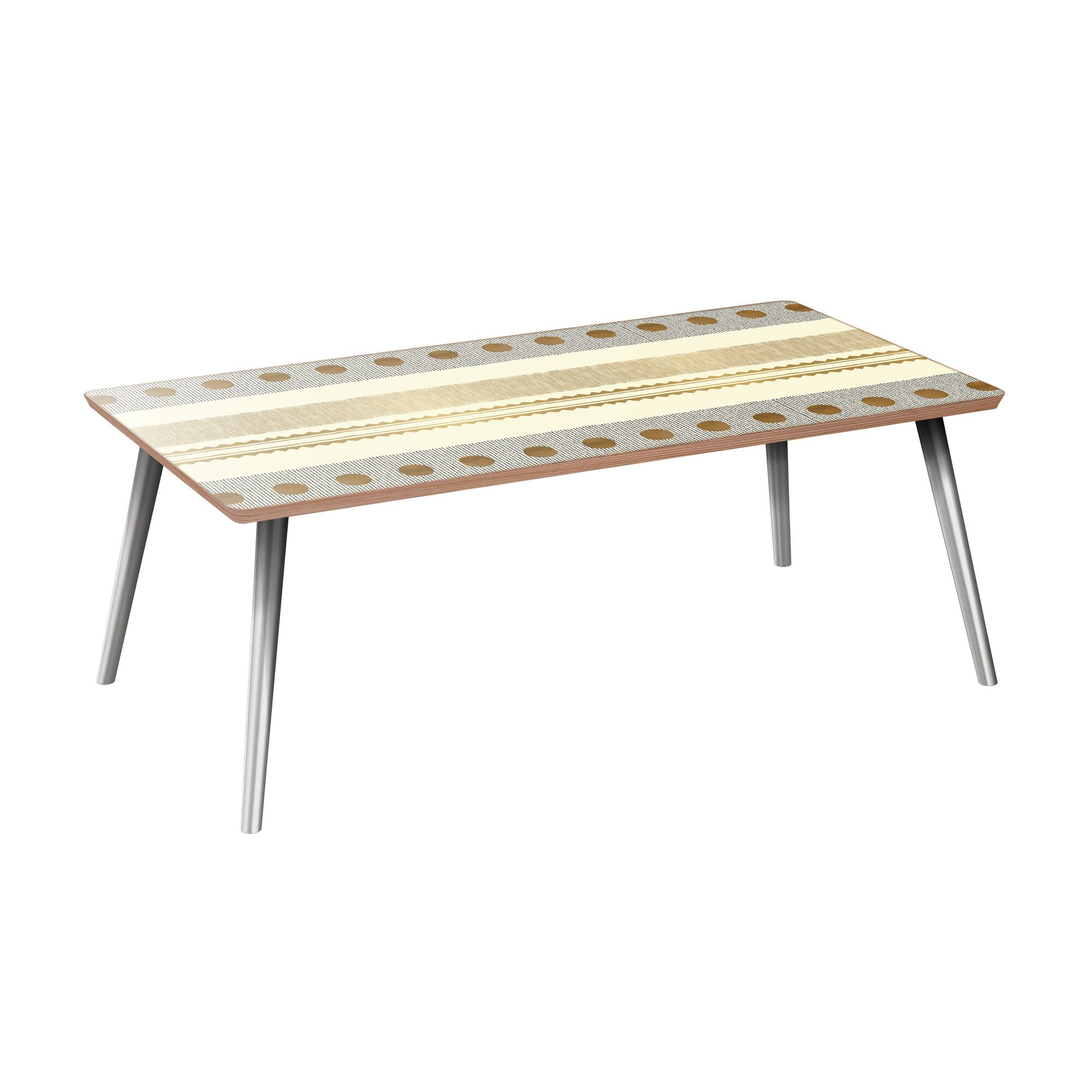 Hulsey Coffee Table Table Base Color: Chrome, Table Top Color: Walnut