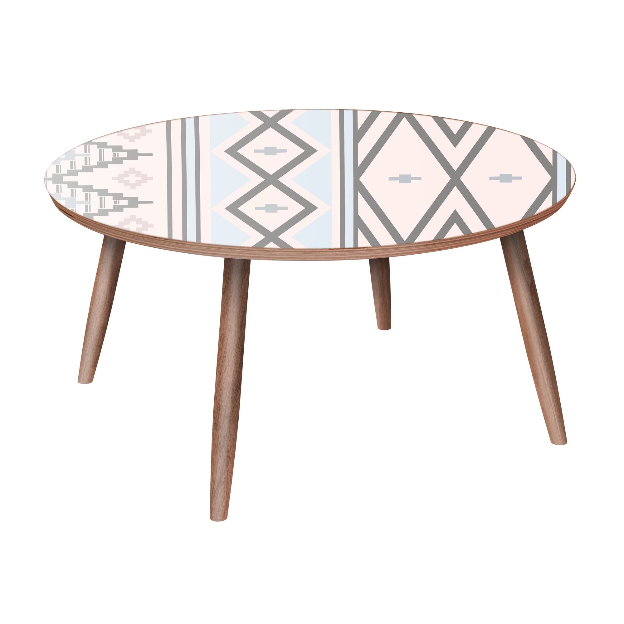 Vandoren Coffee Table Table Base Color: Walnut, Table Top Color: Red