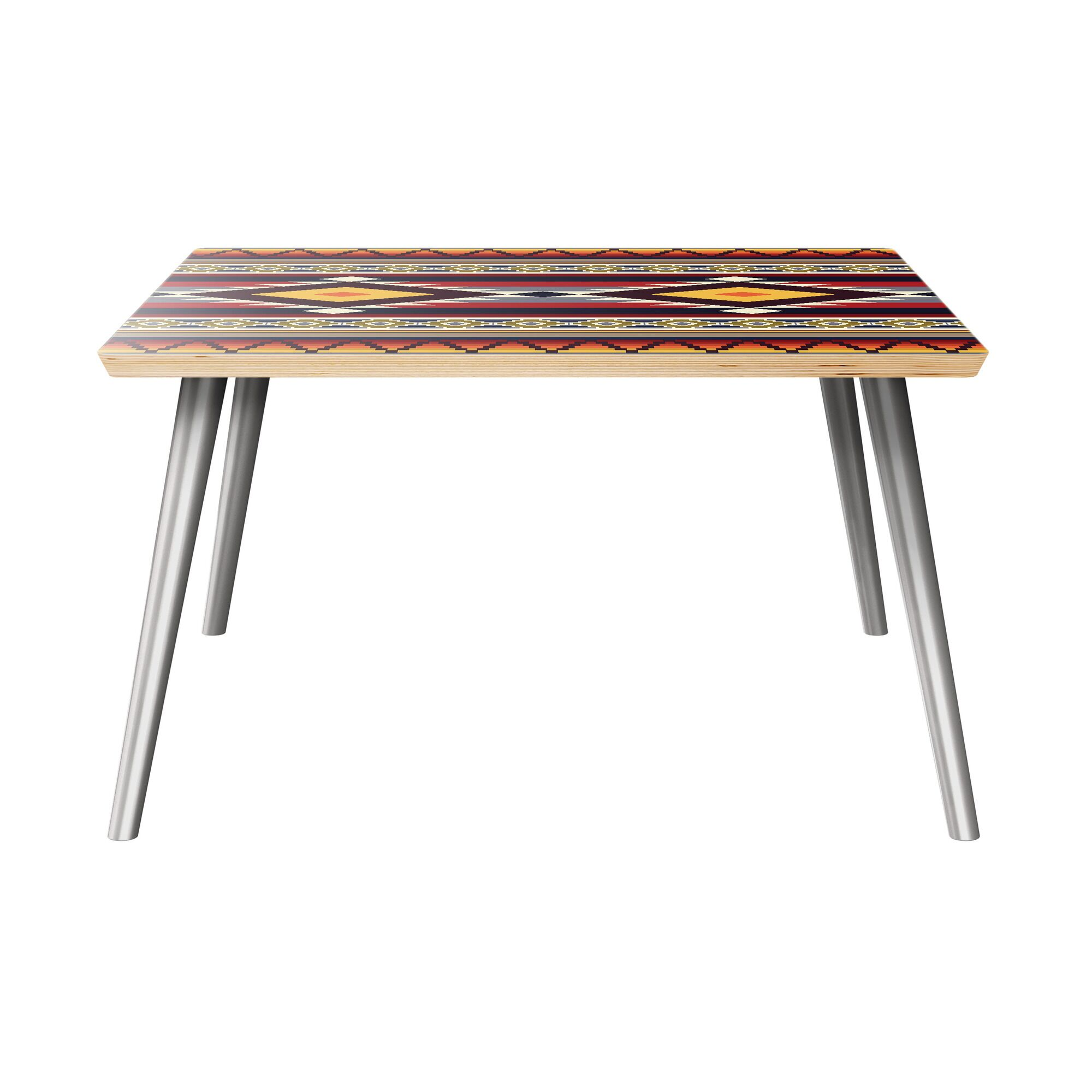 Kellie Coffee Table Table Top Color: Natural, Table Base Color: Chrome