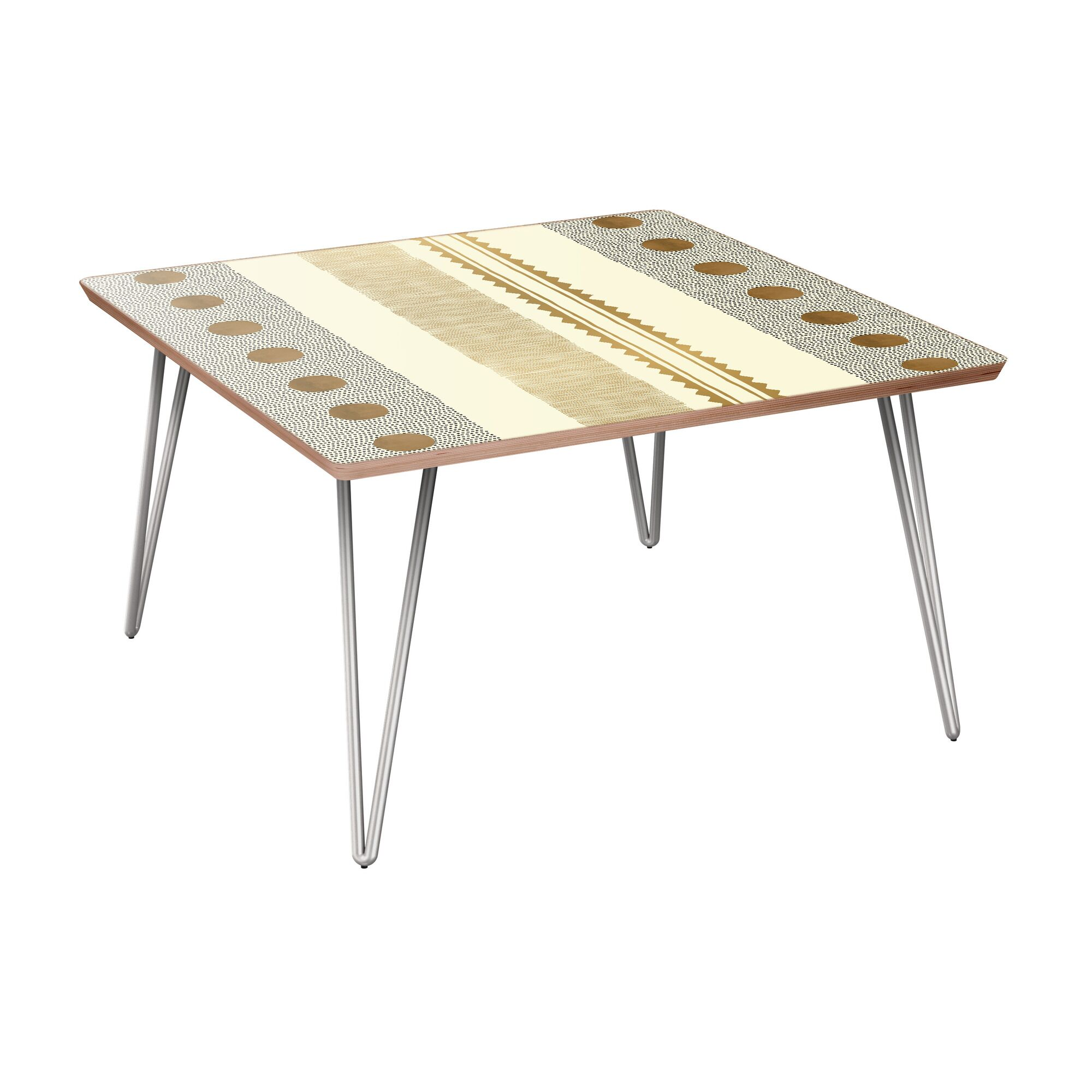 Huddle Coffee Table Table Base Color: Chrome, Table Top Color: Walnut