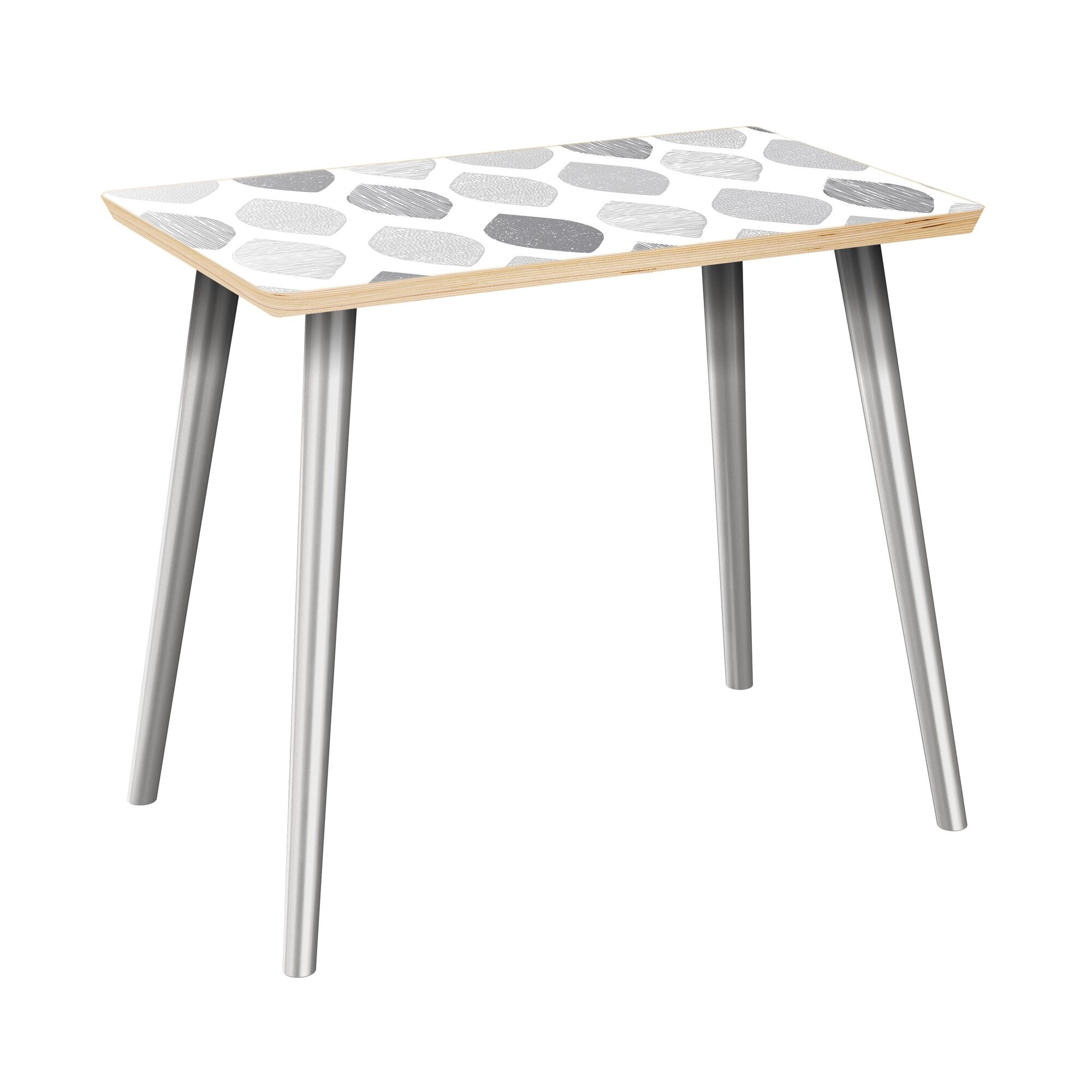Izetta End Table Table Top Color: Natural, Table Base Color: Chrome