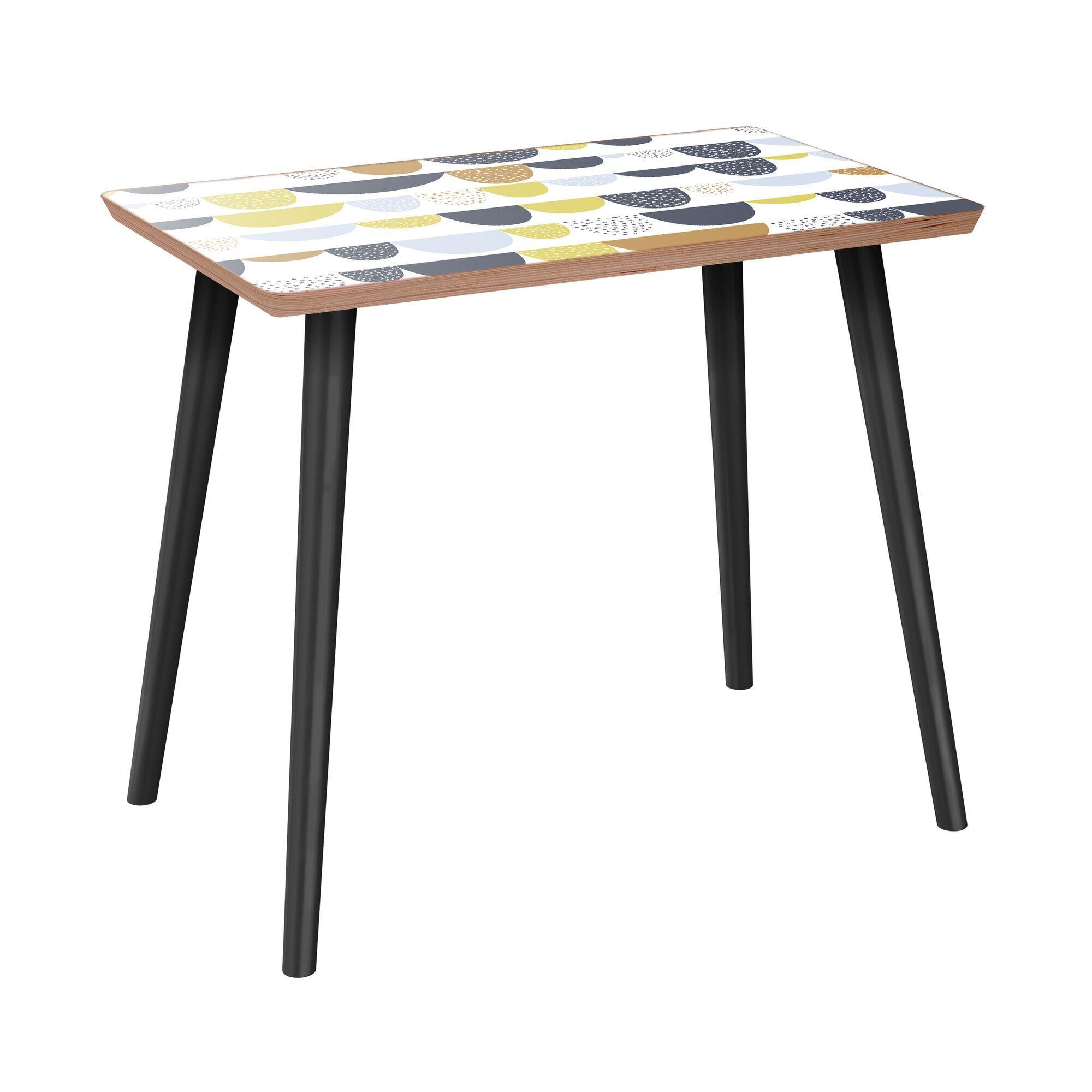 Iyana End Table Table Base Color: Black, Table Top Color: Walnut