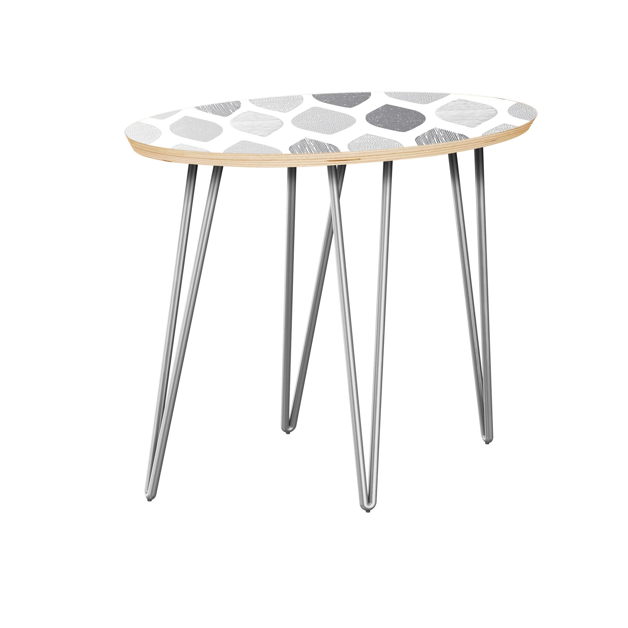 Jill End Table Table Top Color: Natural, Table Base Color: Chrome