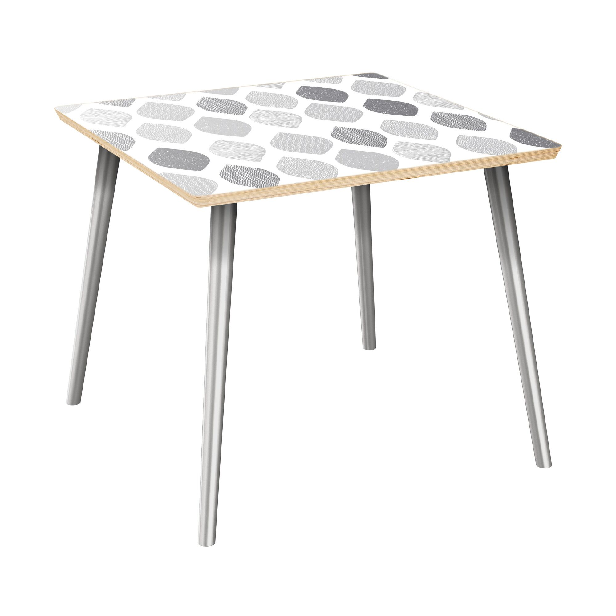Kristofer End Table Table Top Color: Natural, Table Base Color: Chrome