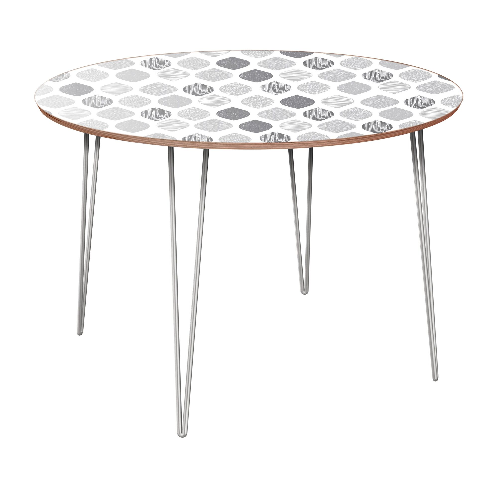 Canas Dining Table Table Base Color: Chrome, Table Top Color: Walnut