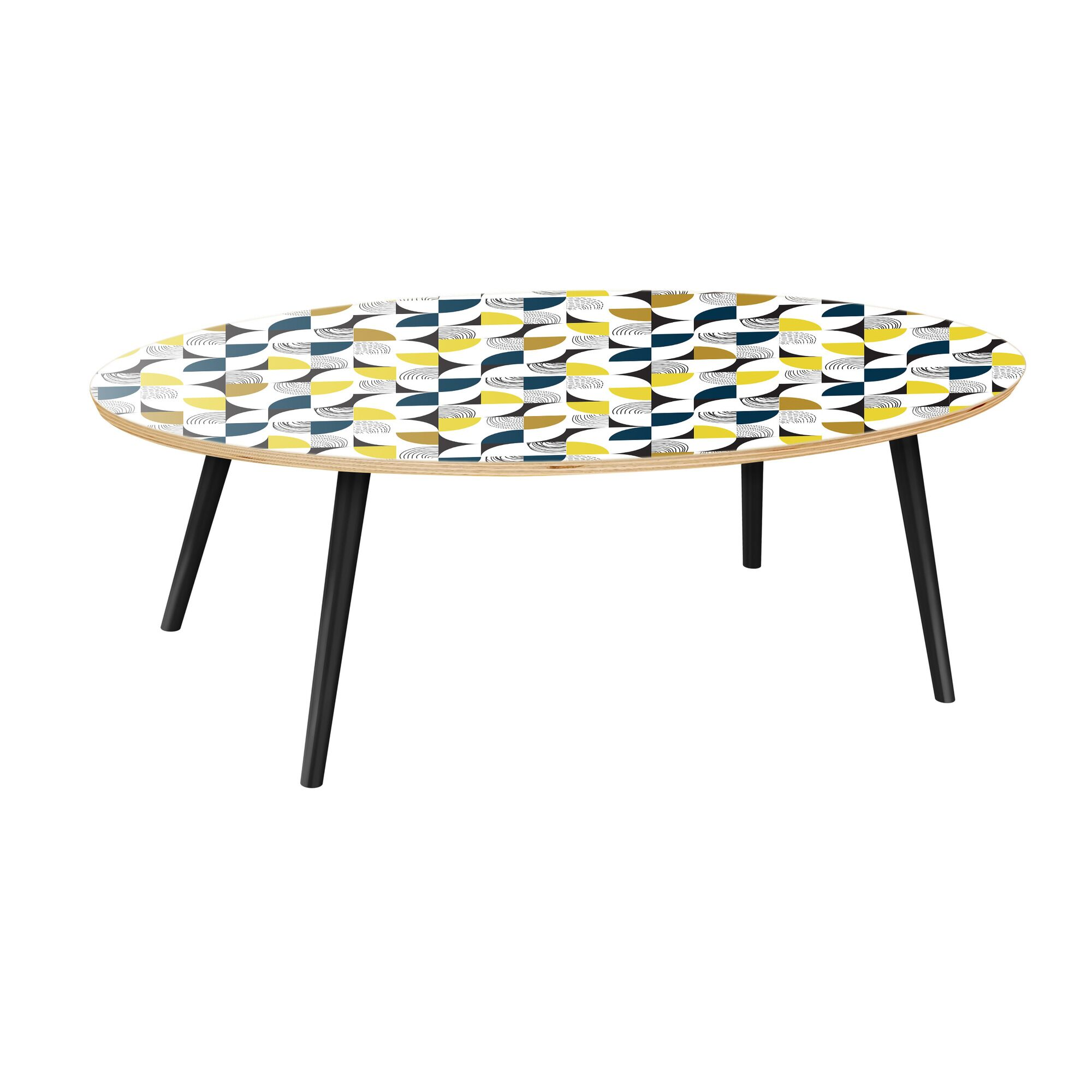 Kingsville Coffee Table Table Top Color: Natural, Table Base Color: Black