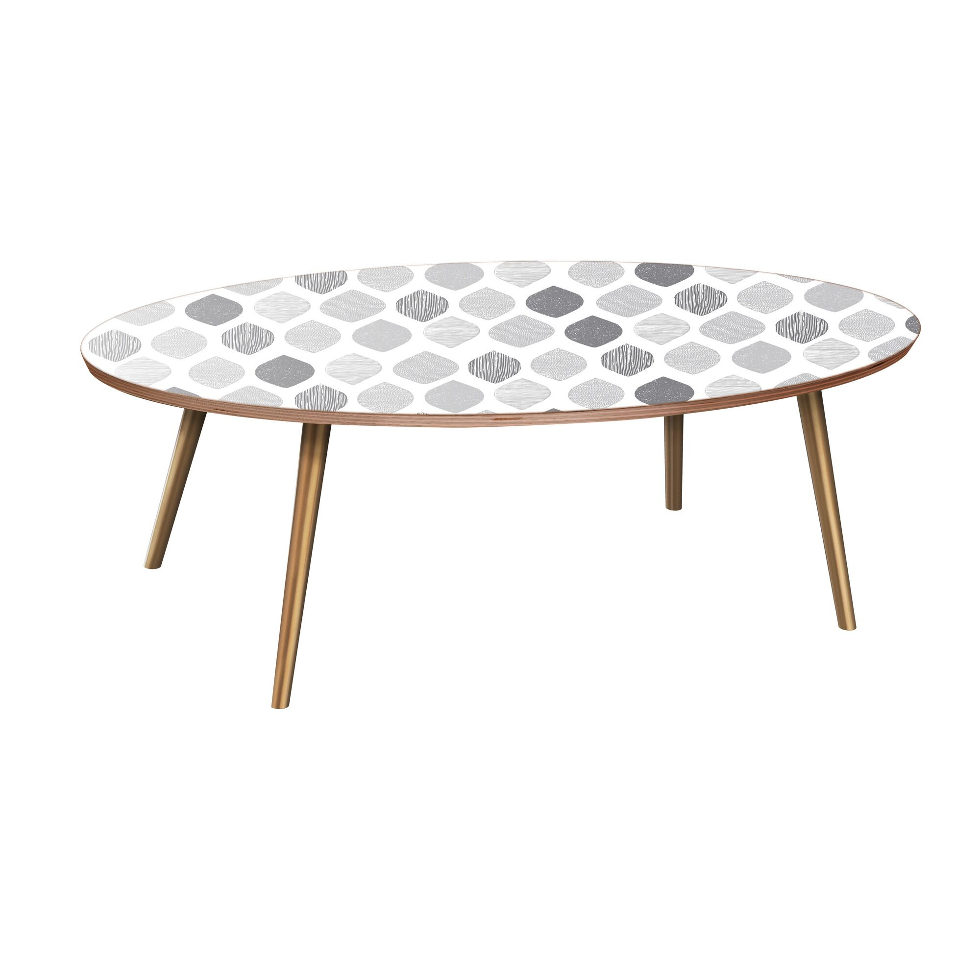 Jalynn Coffee Table Table Base Color: Brass, Table Top Color: Walnut