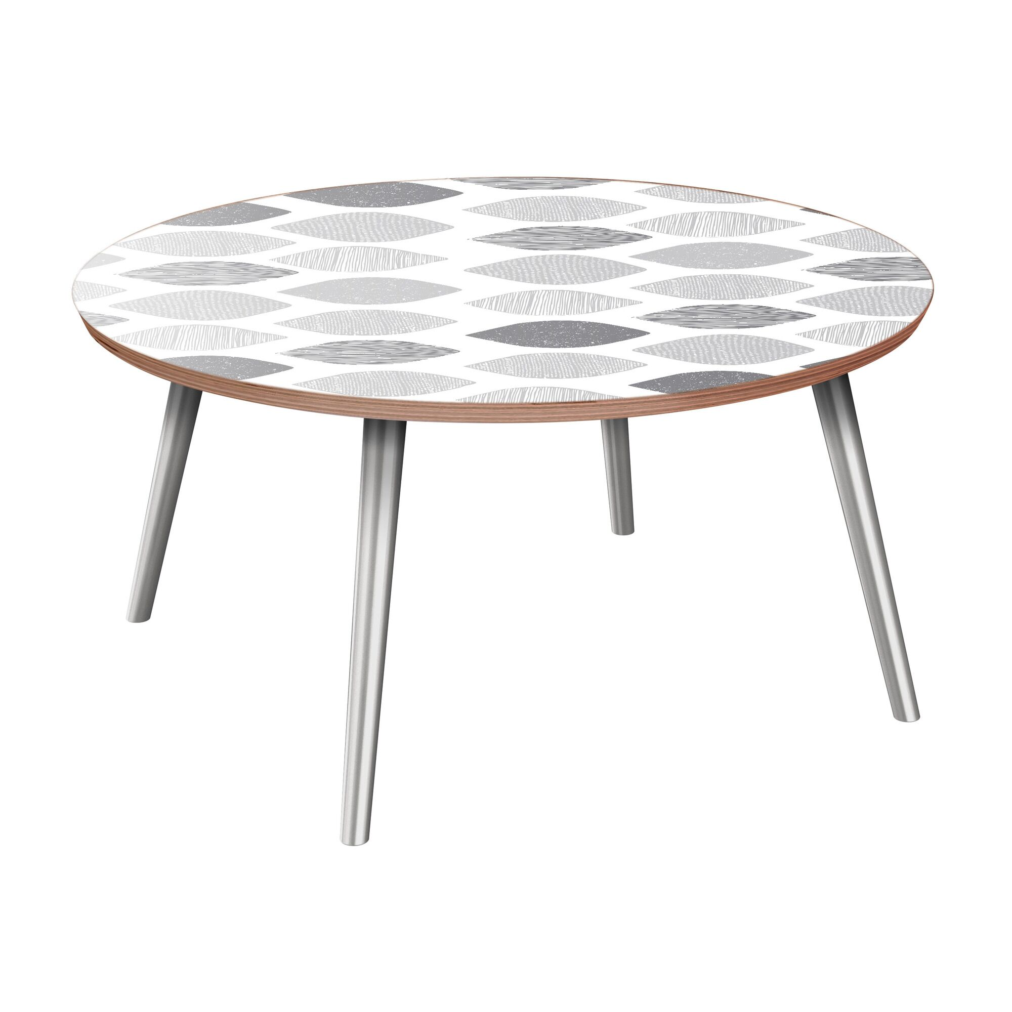 Kada Coffee Table Table Base Color: Chrome, Table Top Color: Walnut