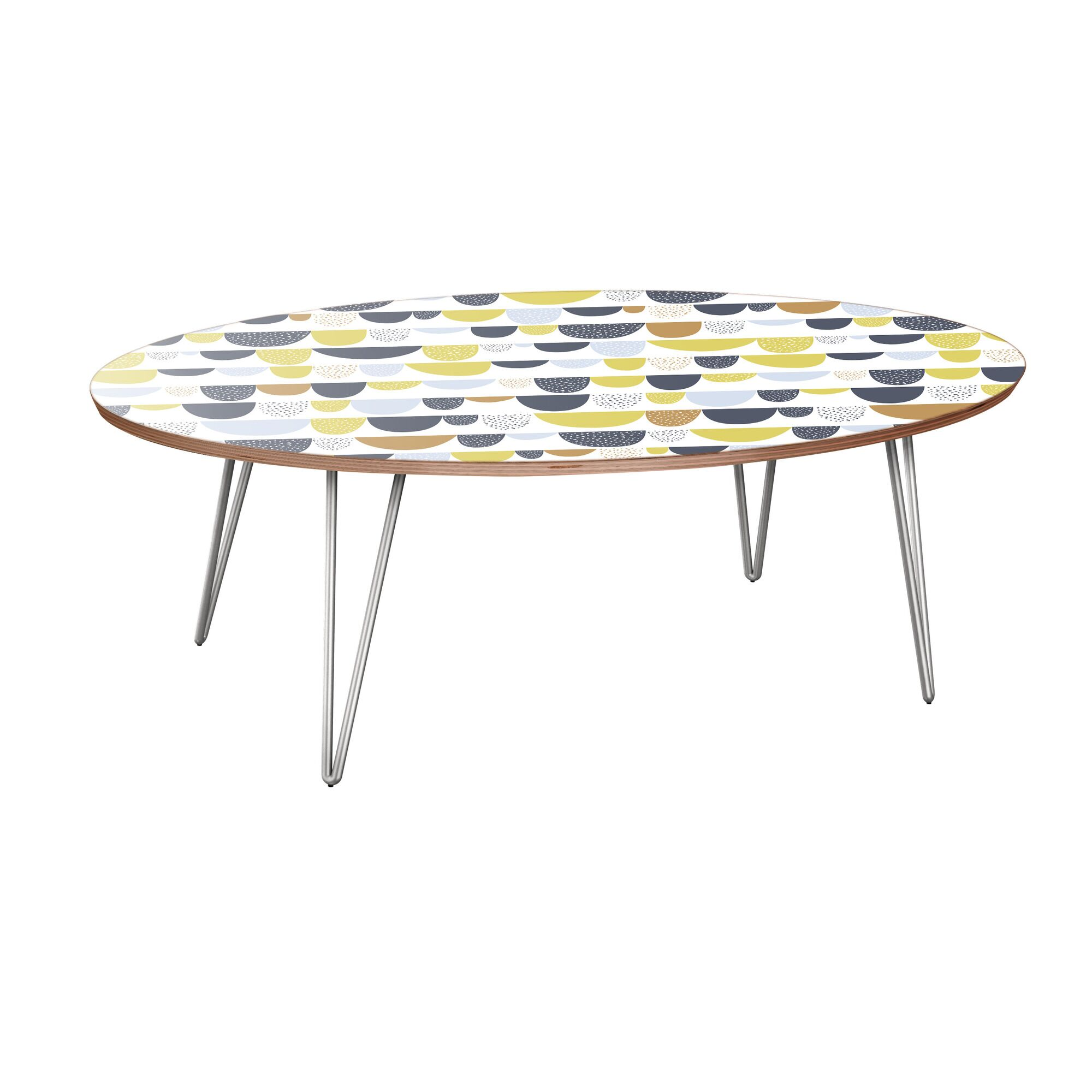 Jake Coffee Table Table Base Color: Chrome, Table Top Color: Walnut