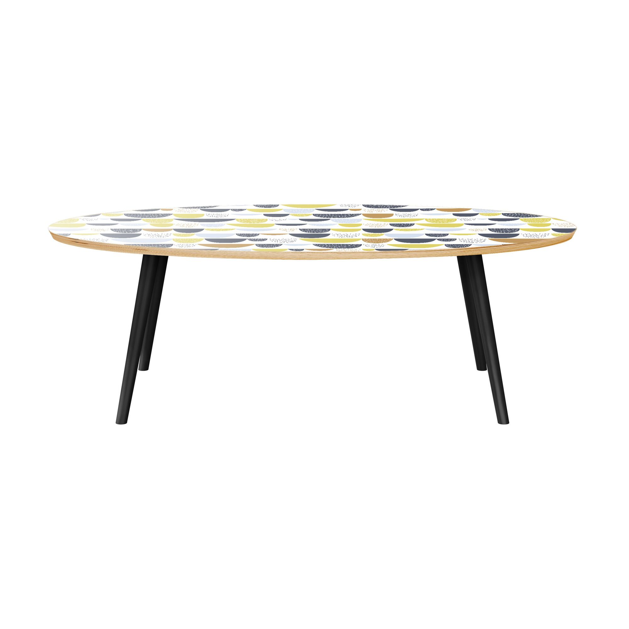 Jaliyiah Coffee Table Table Top Color: Natural, Table Base Color: Black