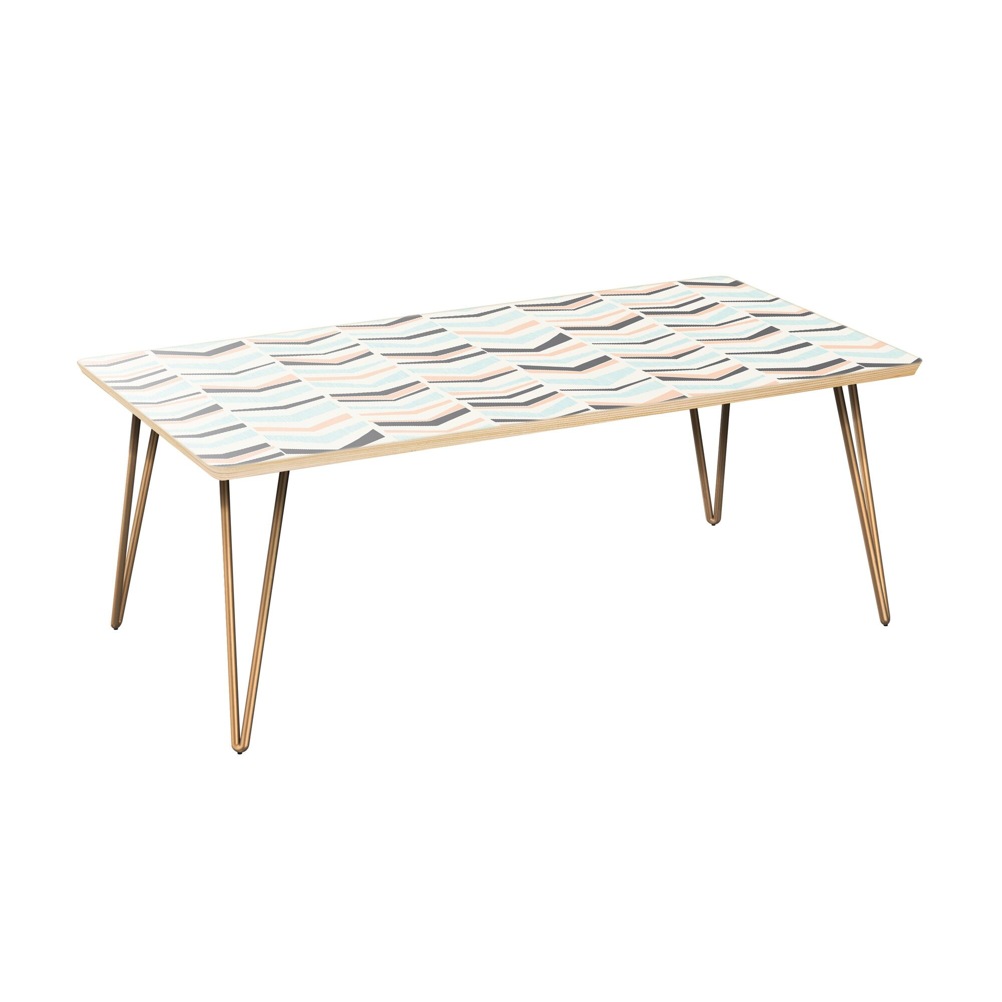 Schillinger Coffee Table Table Top Color: Natural, Table Base Color: Brass