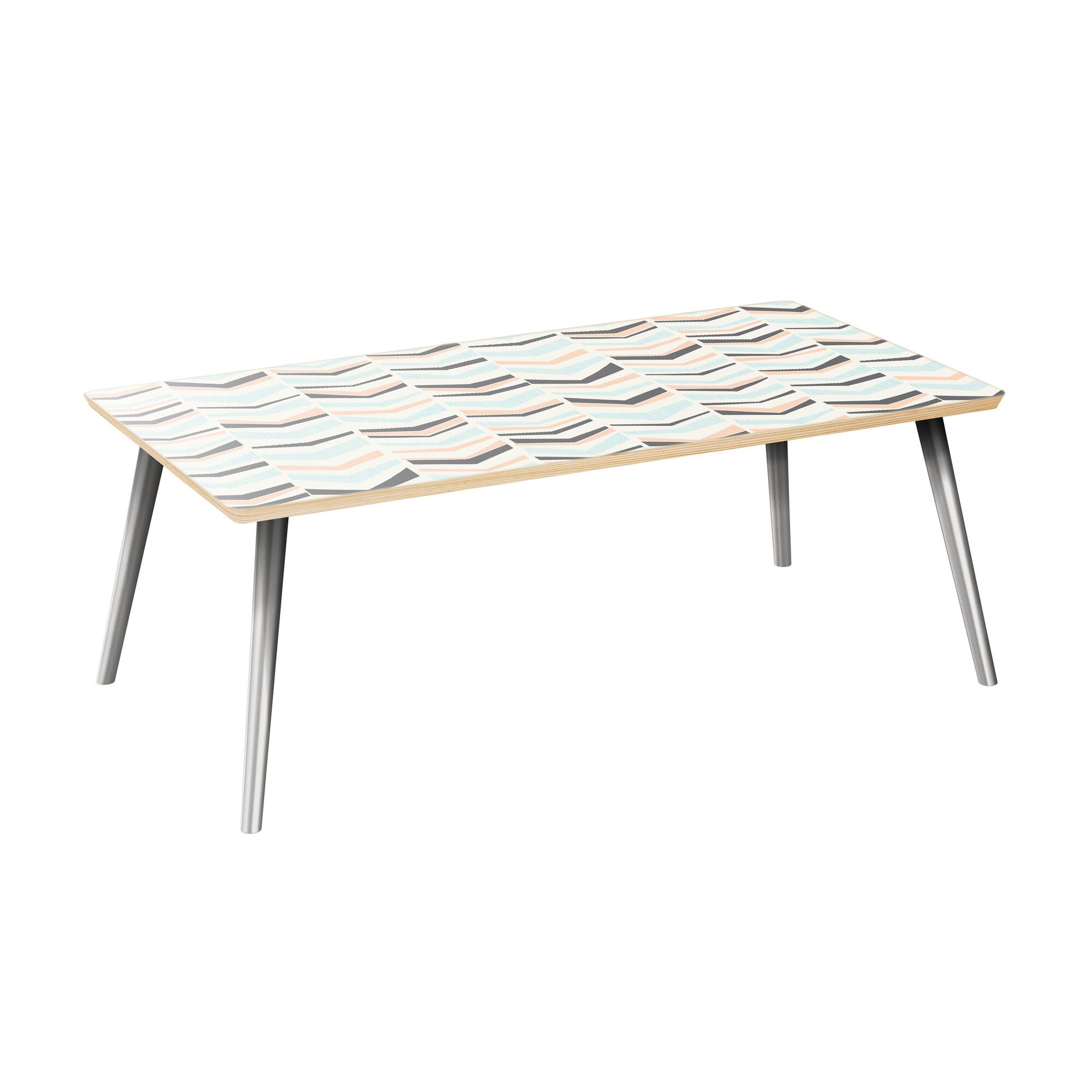 Schmit Coffee Table Table Top Color: Natural, Table Base Color: Chrome