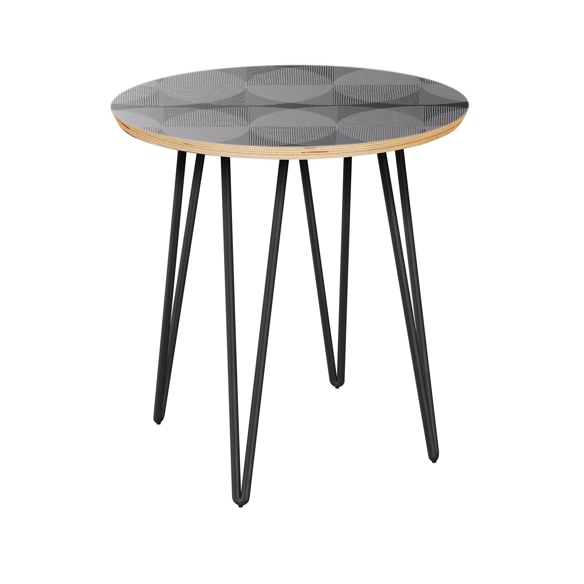 Eurich End Table Table Top Color: Natural, Table Base Color: Black