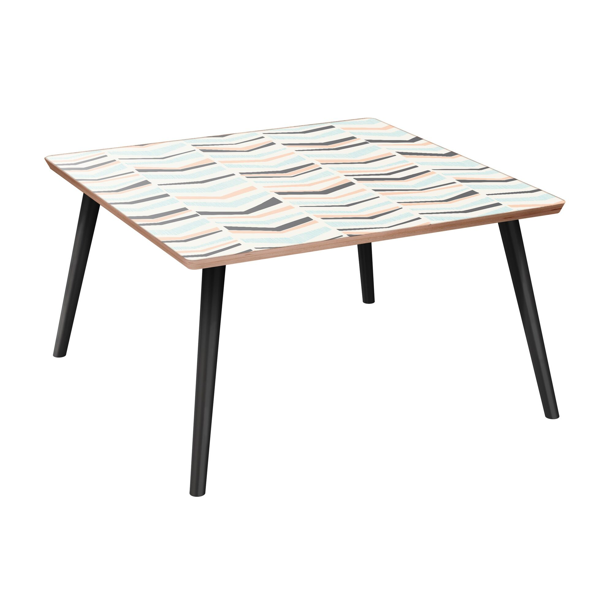 Scalf Coffee Table Table Base Color: Black, Table Top Color: Walnut