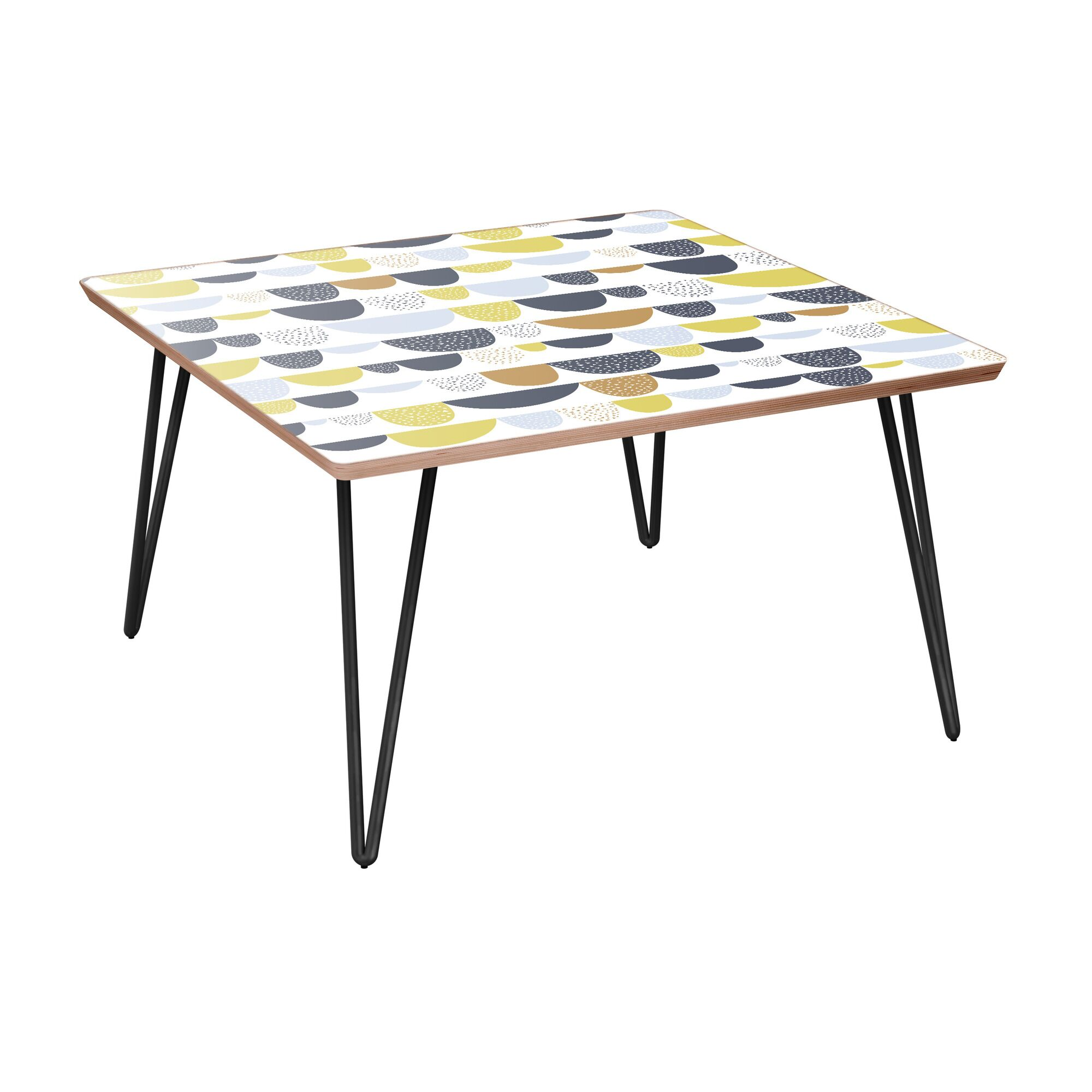 Ingersoll Coffee Table Table Base Color: Black, Table Top Color: Walnut