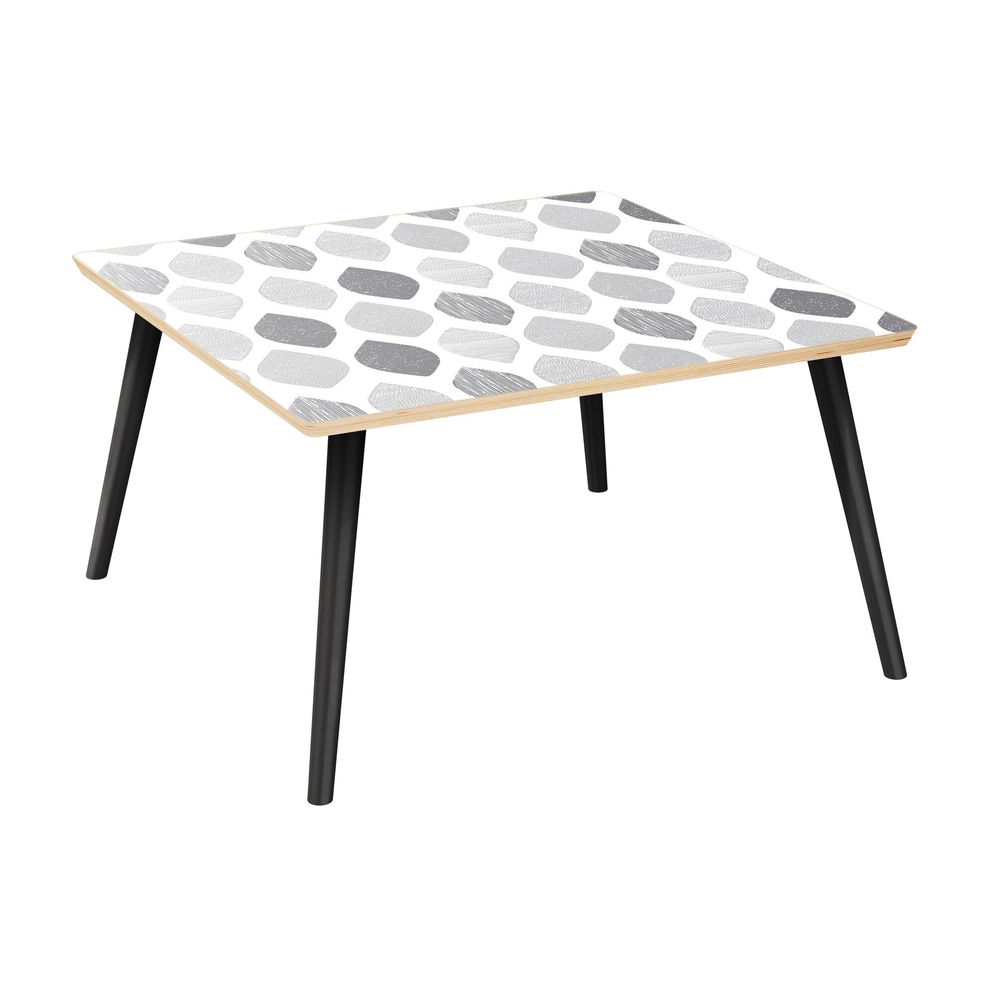 Ramm Coffee Table Table Top Color: Natural, Table Base Color: Black