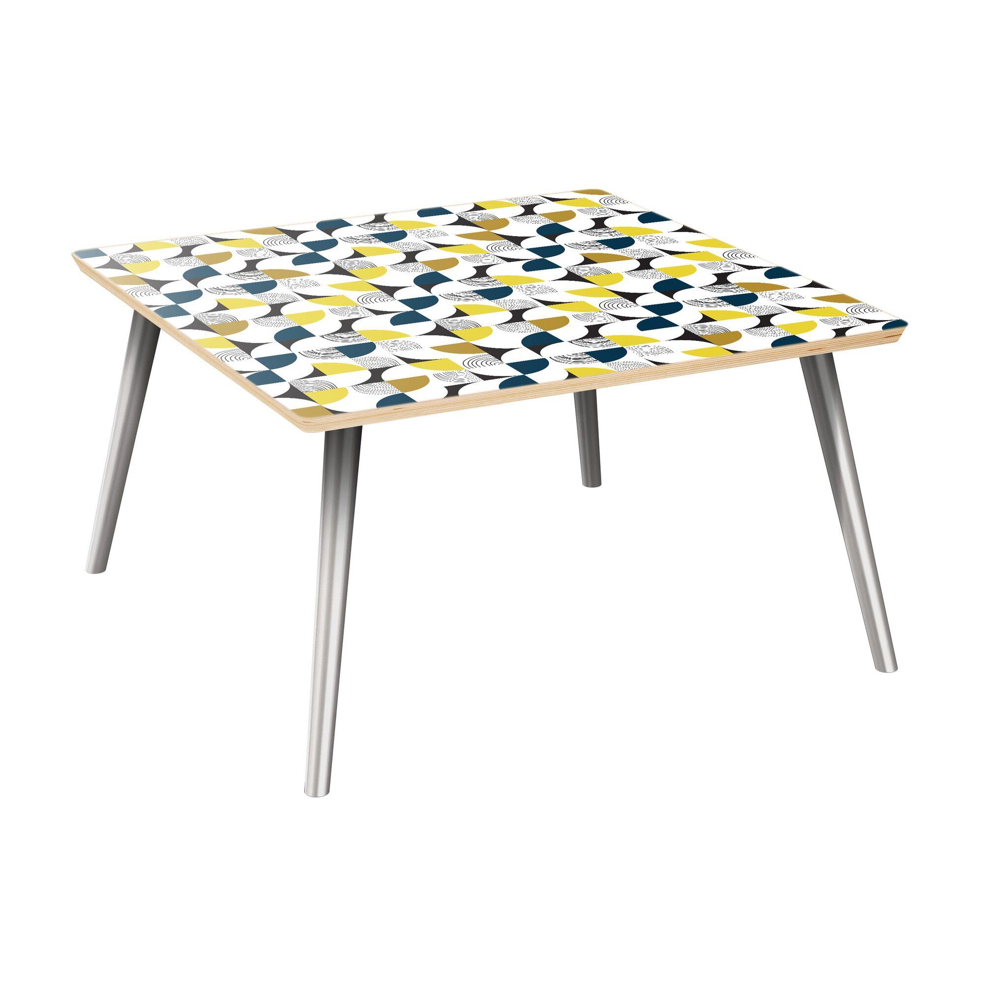Kyoko Coffee Table Table Top Color: Natural, Table Base Color: Chrome