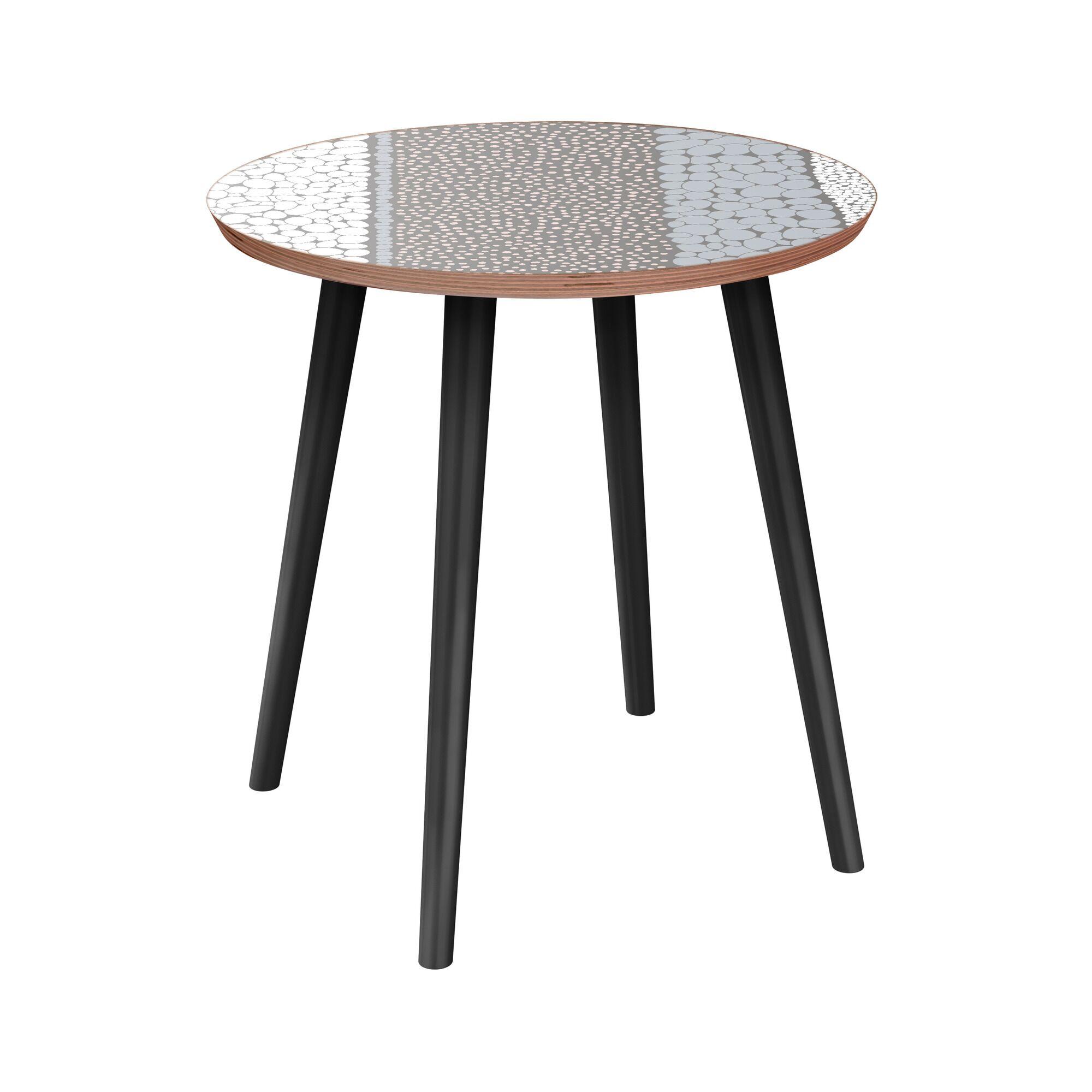 Galaviz End Table Table Base Color: Black, Table Top Color: Walnut