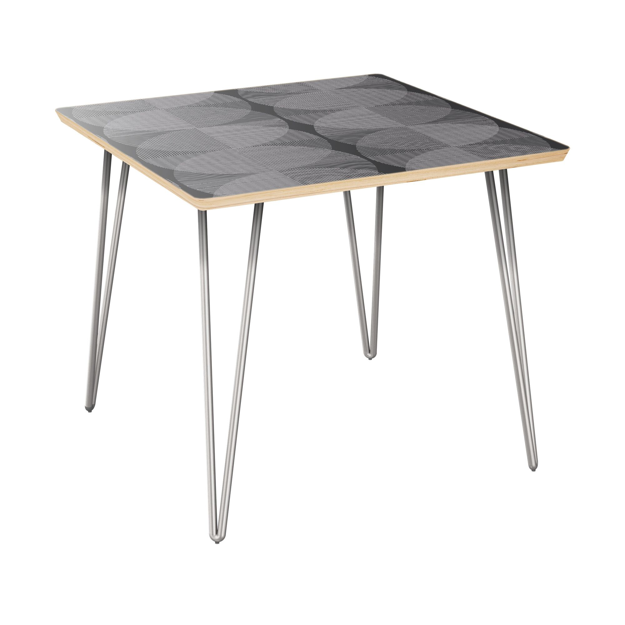 Espitia End Table Table Top Color: Natural, Table Base Color: Chrome