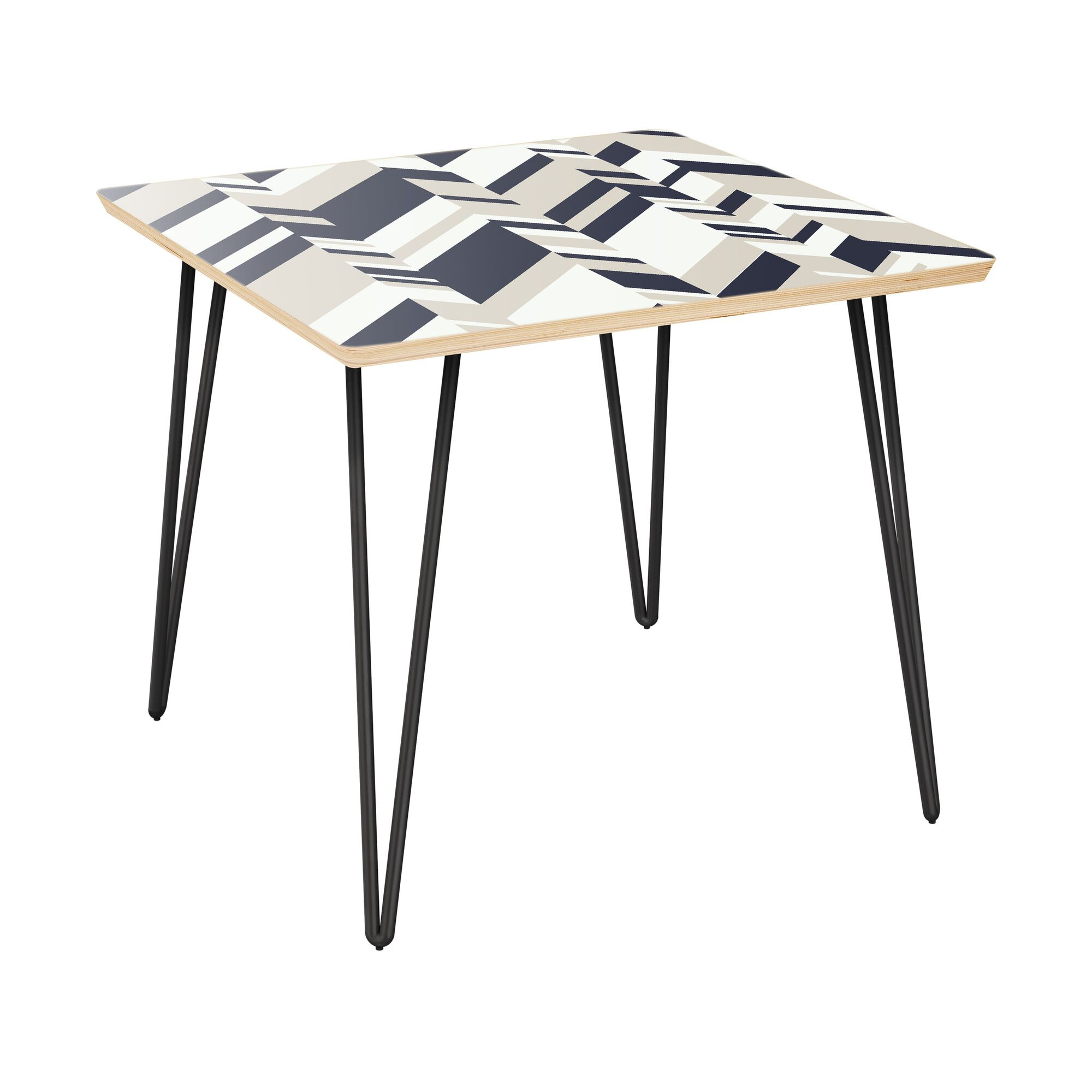 Gadbois End Table Table Top Color: Natural, Table Base Color: Black