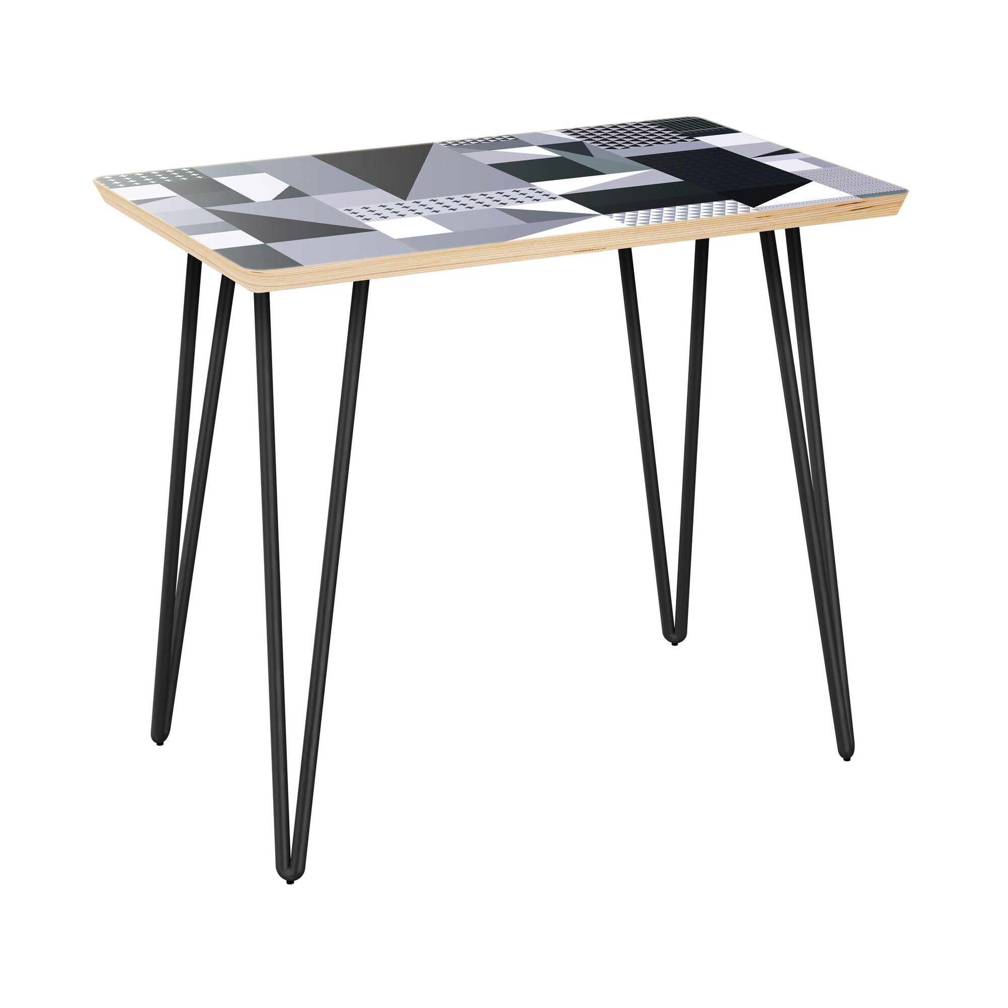 Jaimee End Table Table Top Color: Natural, Table Base Color: Black