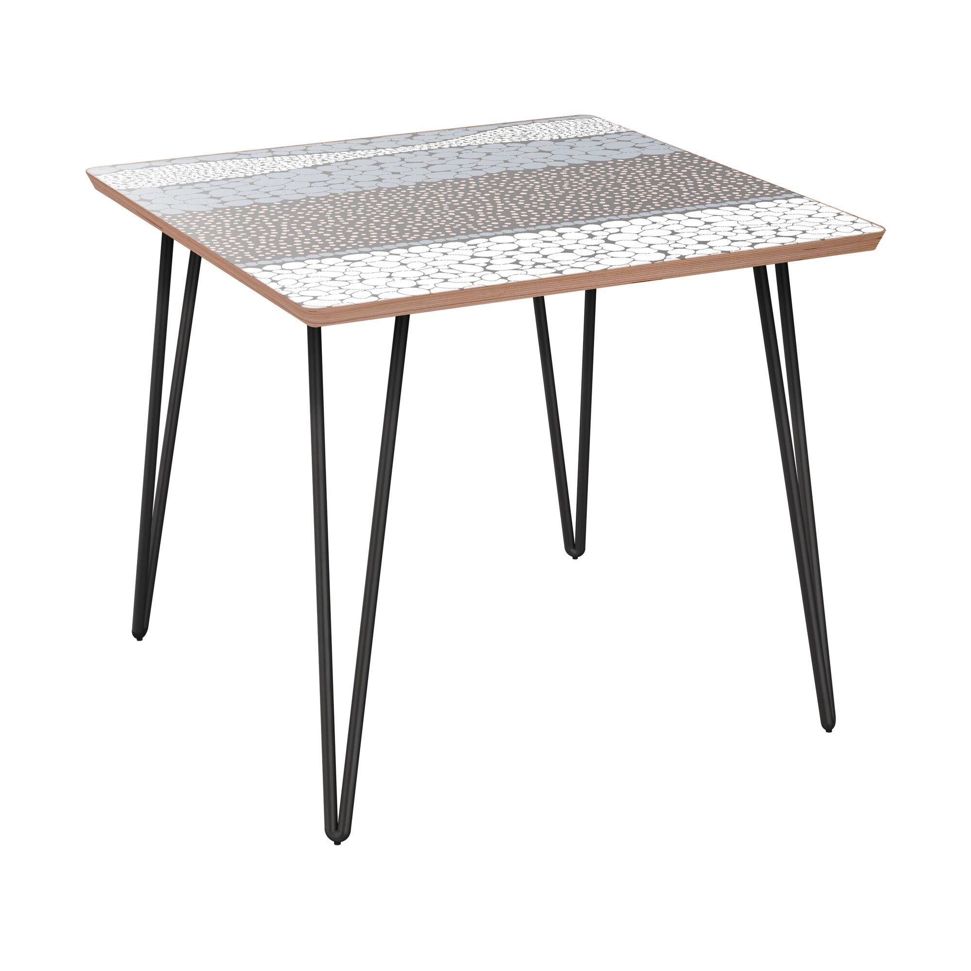 Gabriele End Table Table Base Color: Black, Table Top Color: Walnut