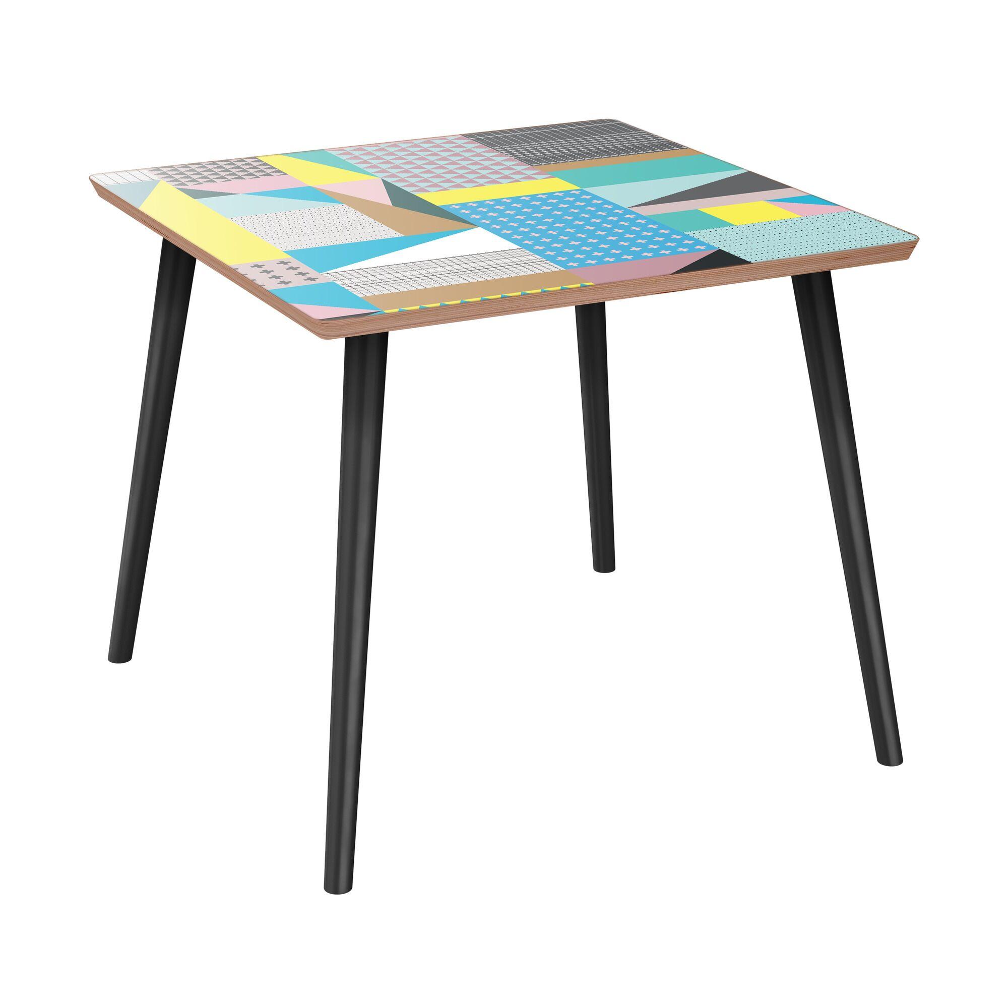 Killington End Table Table Base Color: Black, Table Top Color: Walnut