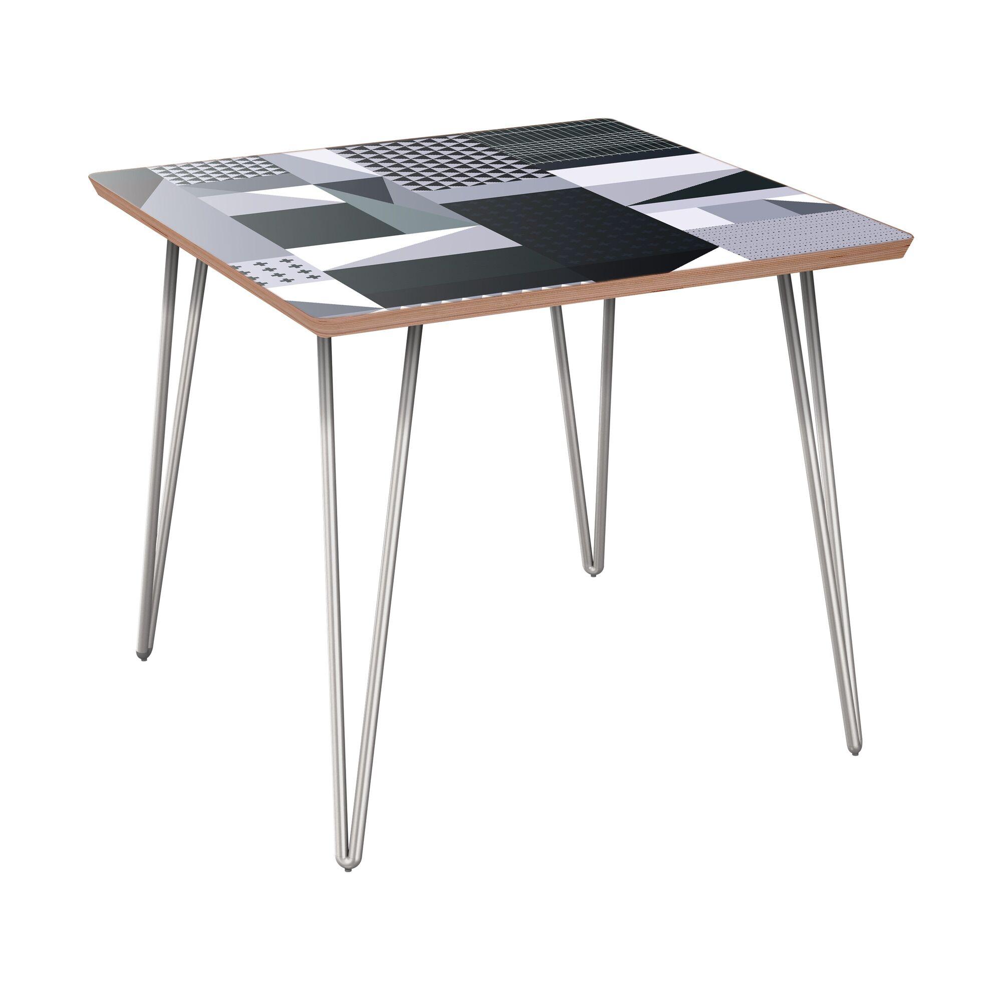Killingworth End Table Table Base Color: Chrome, Table Top Color: Walnut