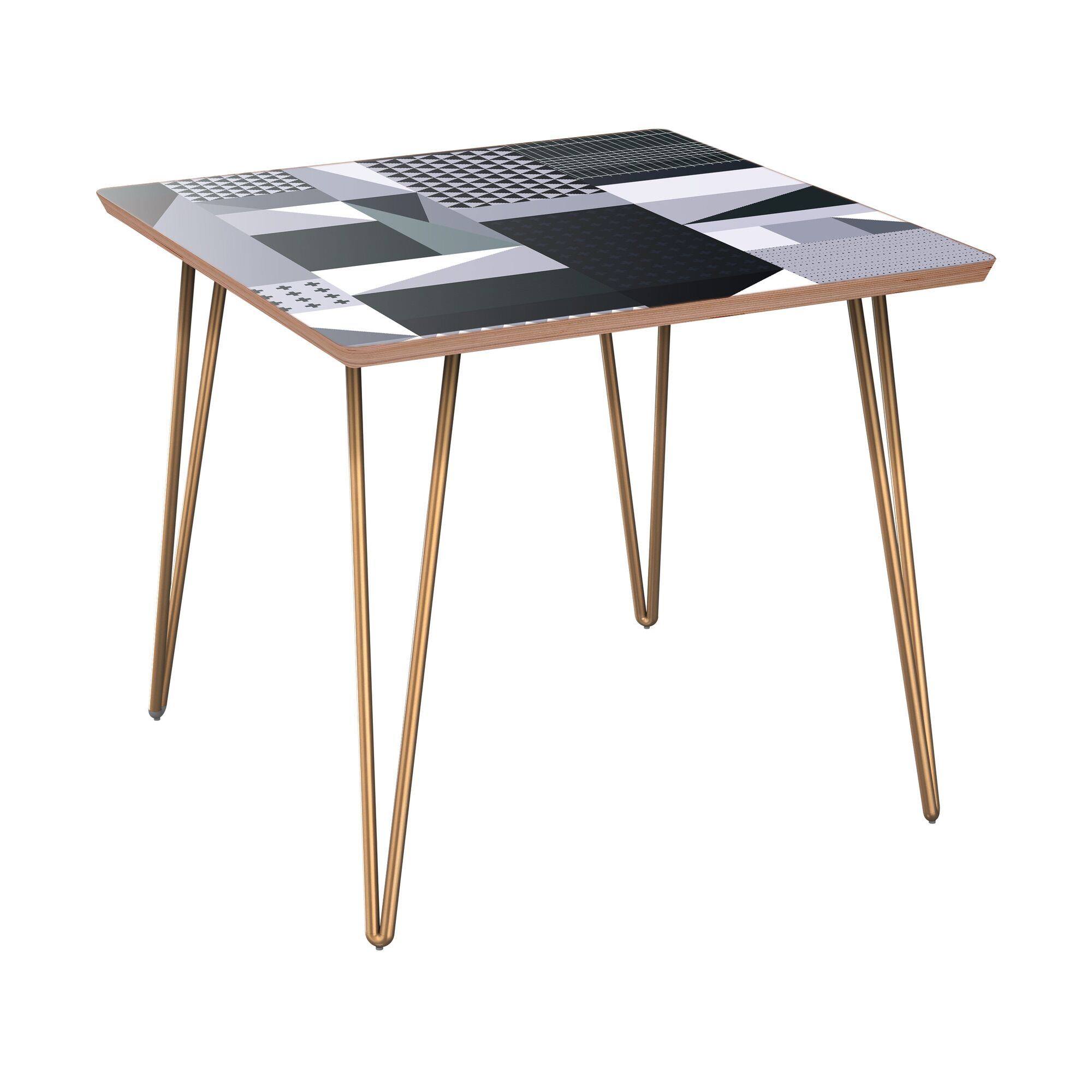 Killingworth End Table Table Base Color: Brass, Table Top Color: Walnut