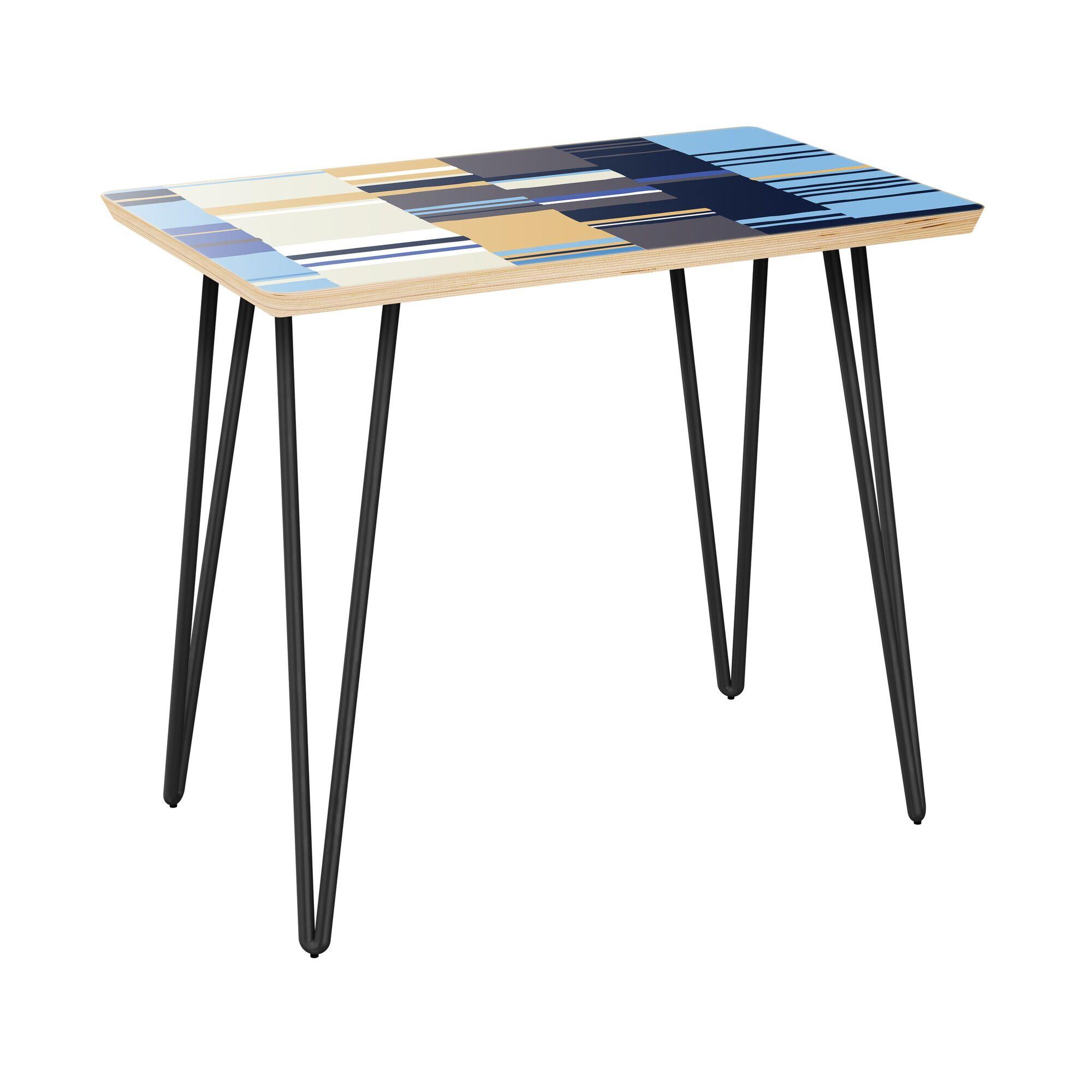 Kilraghts End Table Table Top Color: Natural, Table Base Color: Black