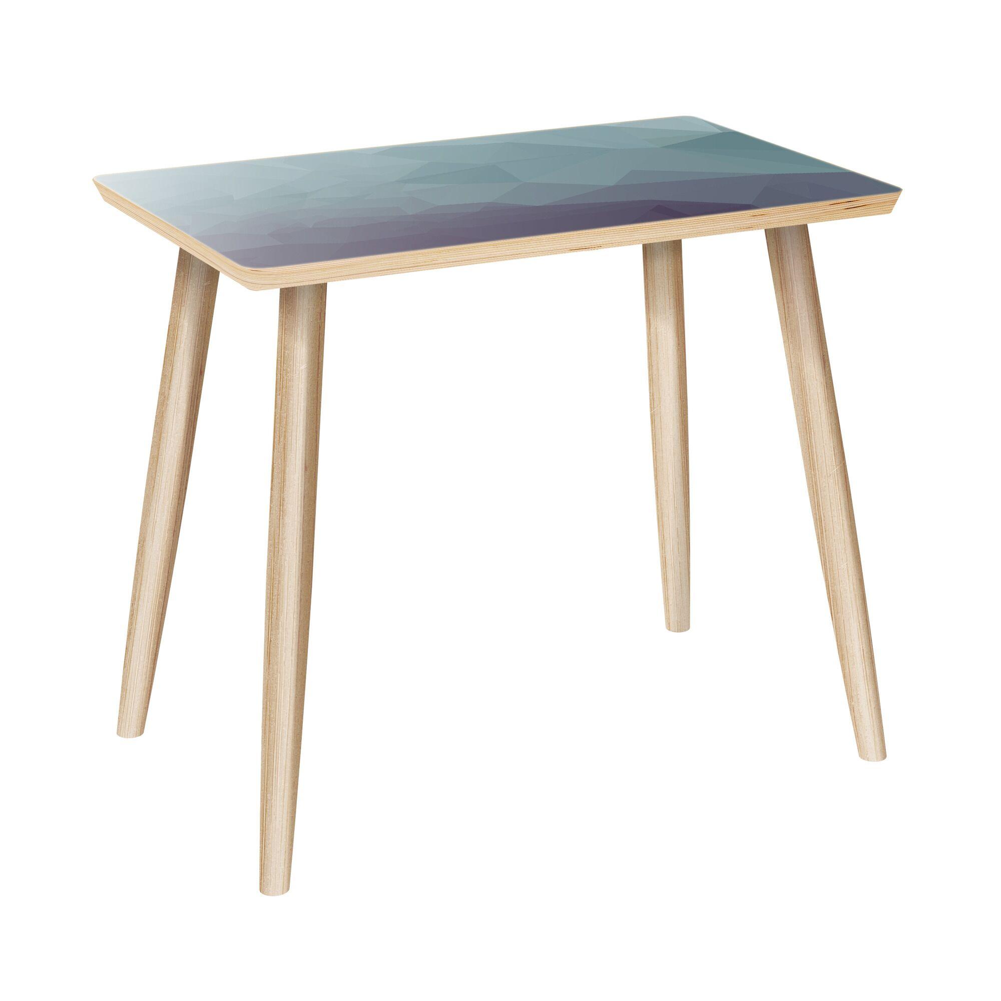 Mariella End Table Table Base Color: Natural, Table Top Color: Gray/Black