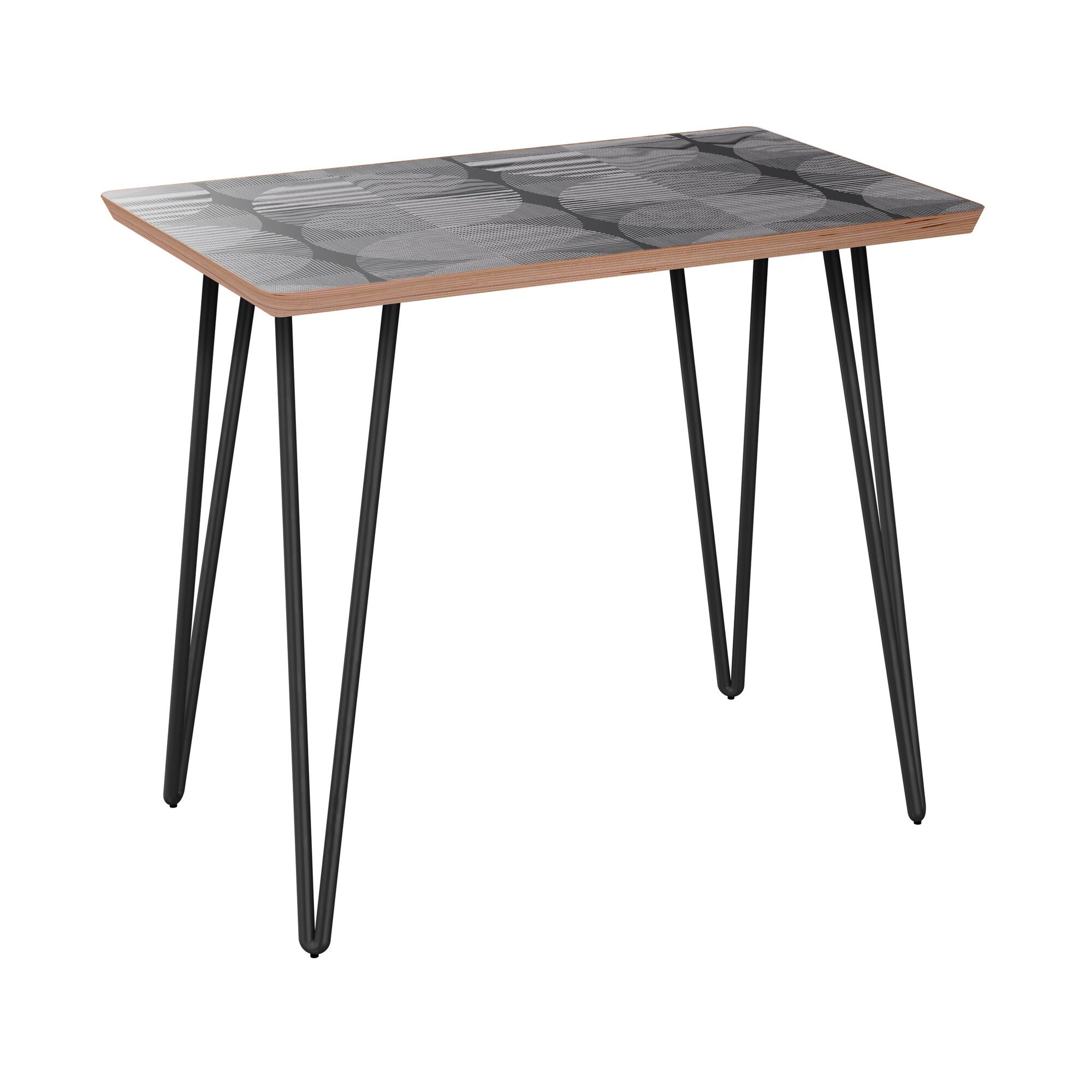 Eustis End Table Table Base Color: Black, Table Top Color: Walnut