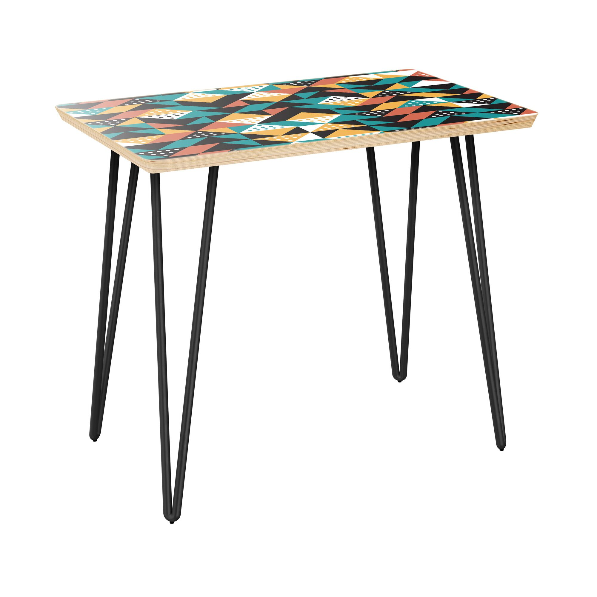 Appaloosa End Table Table Base Color: Black, Table Top Color: Natural