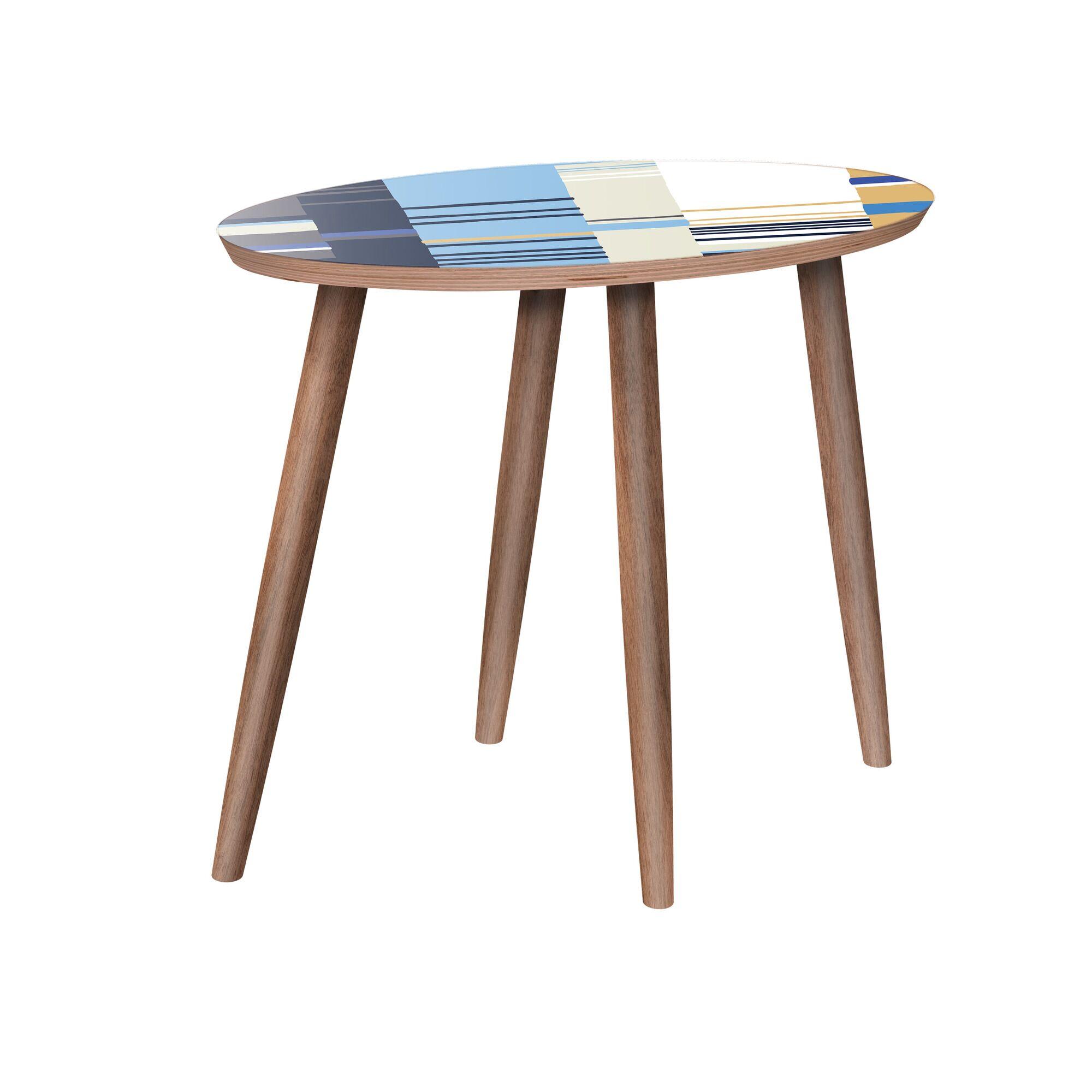 Milena End Table Color: Walnut