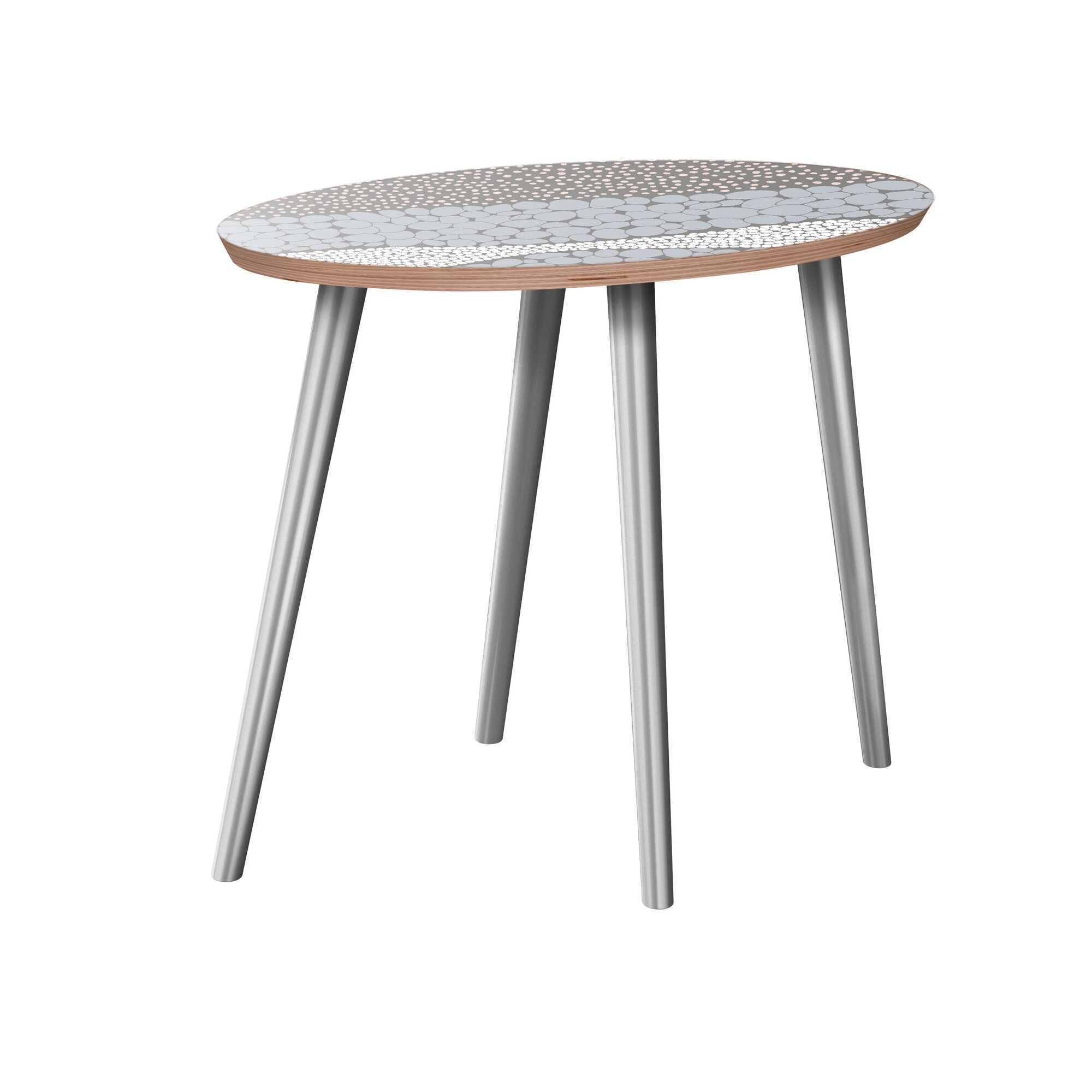 Gallien End Table Table Base Color: Chrome, Table Top Color: Walnut